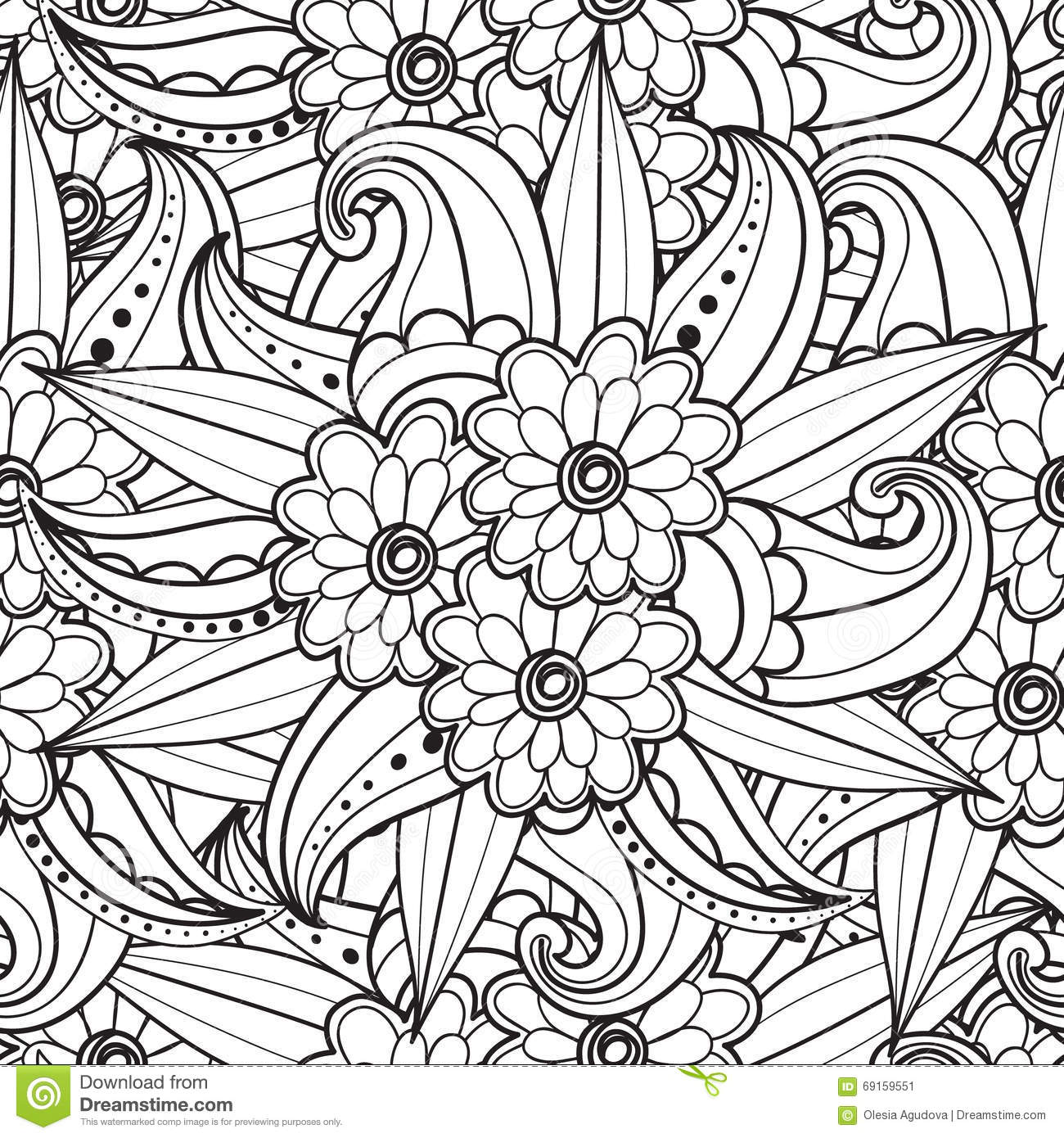 Pages For Adult Coloring Book. Hand Drawn Artistic Ethnic ...