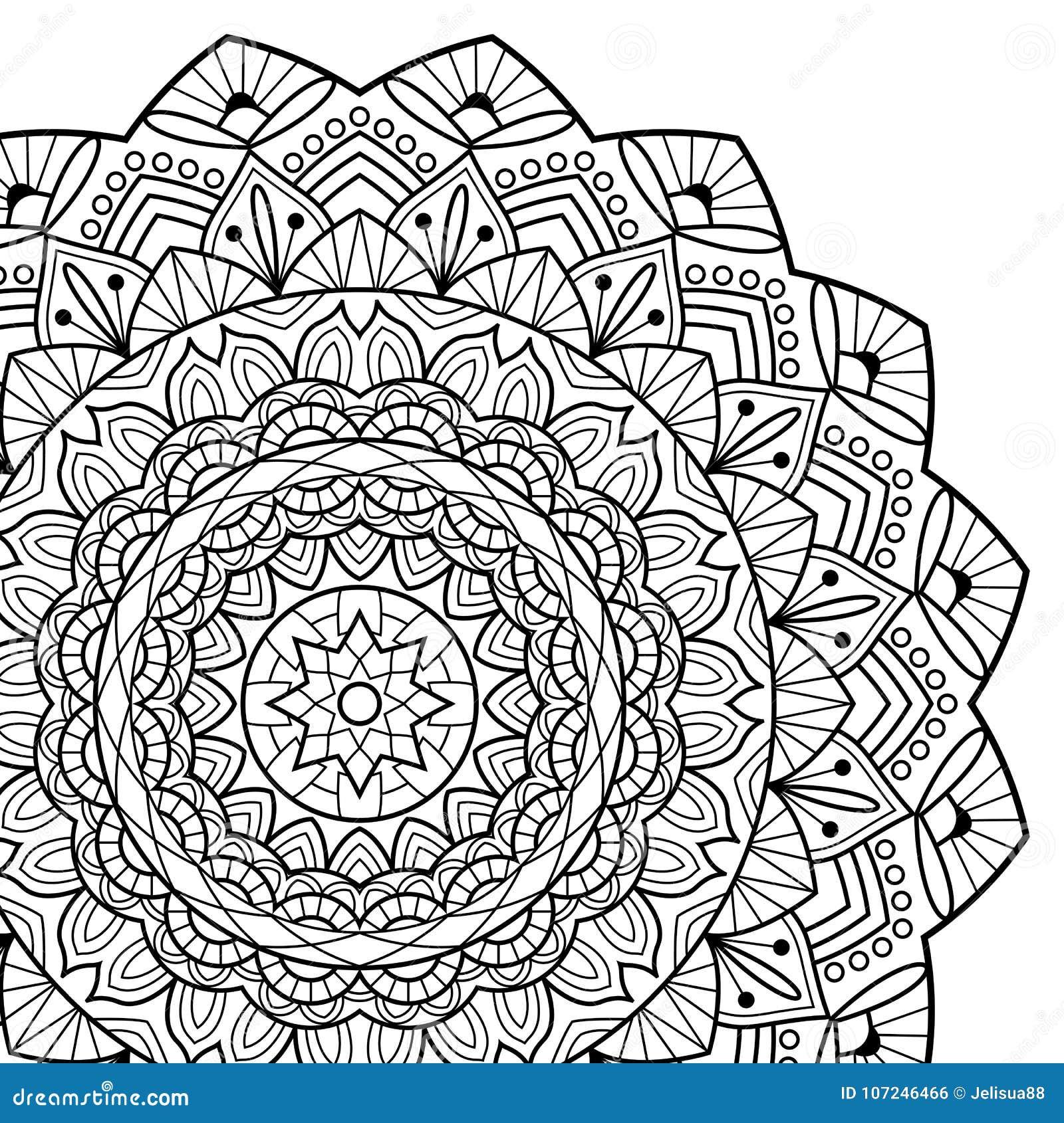 Coloriage Anti Stress Indien.Pages De Livre De Coloriage Mandala Medaillon Antistress