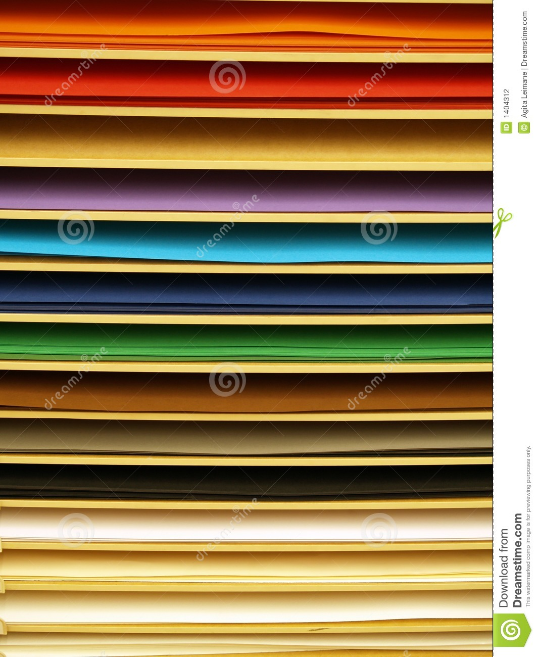Pages de papier de couleur