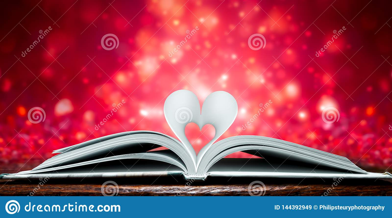 Pages en forme de coeur