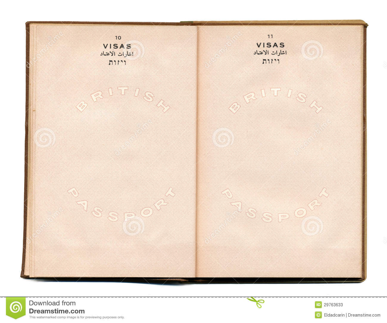 British-Palestine Vintage Passport Stock Photos - Image ...