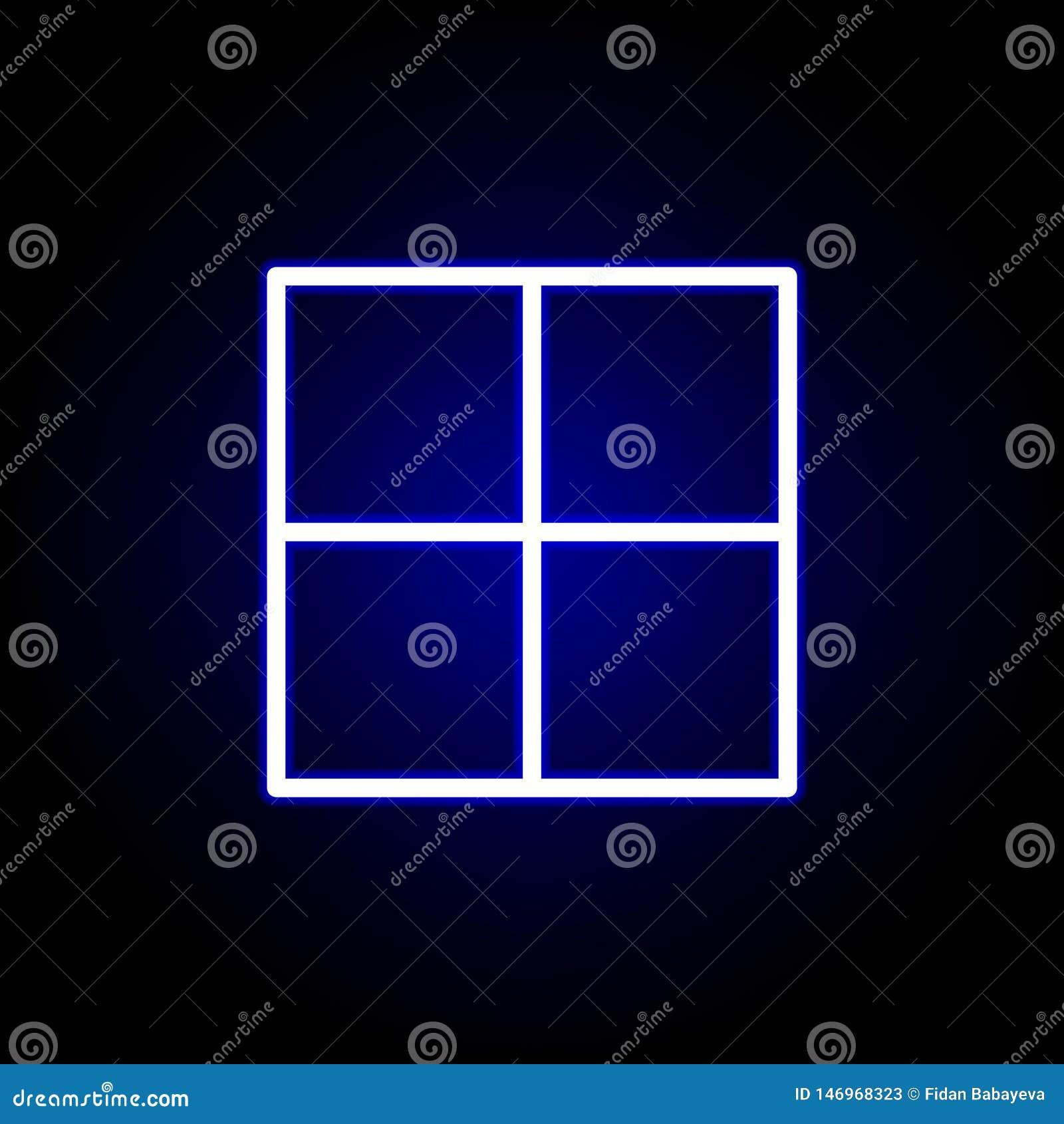 Pagina, afdelingspictogram in neonstijl Kan voor Web, embleem, mobiele toepassing, UI, UX worden gebruikt