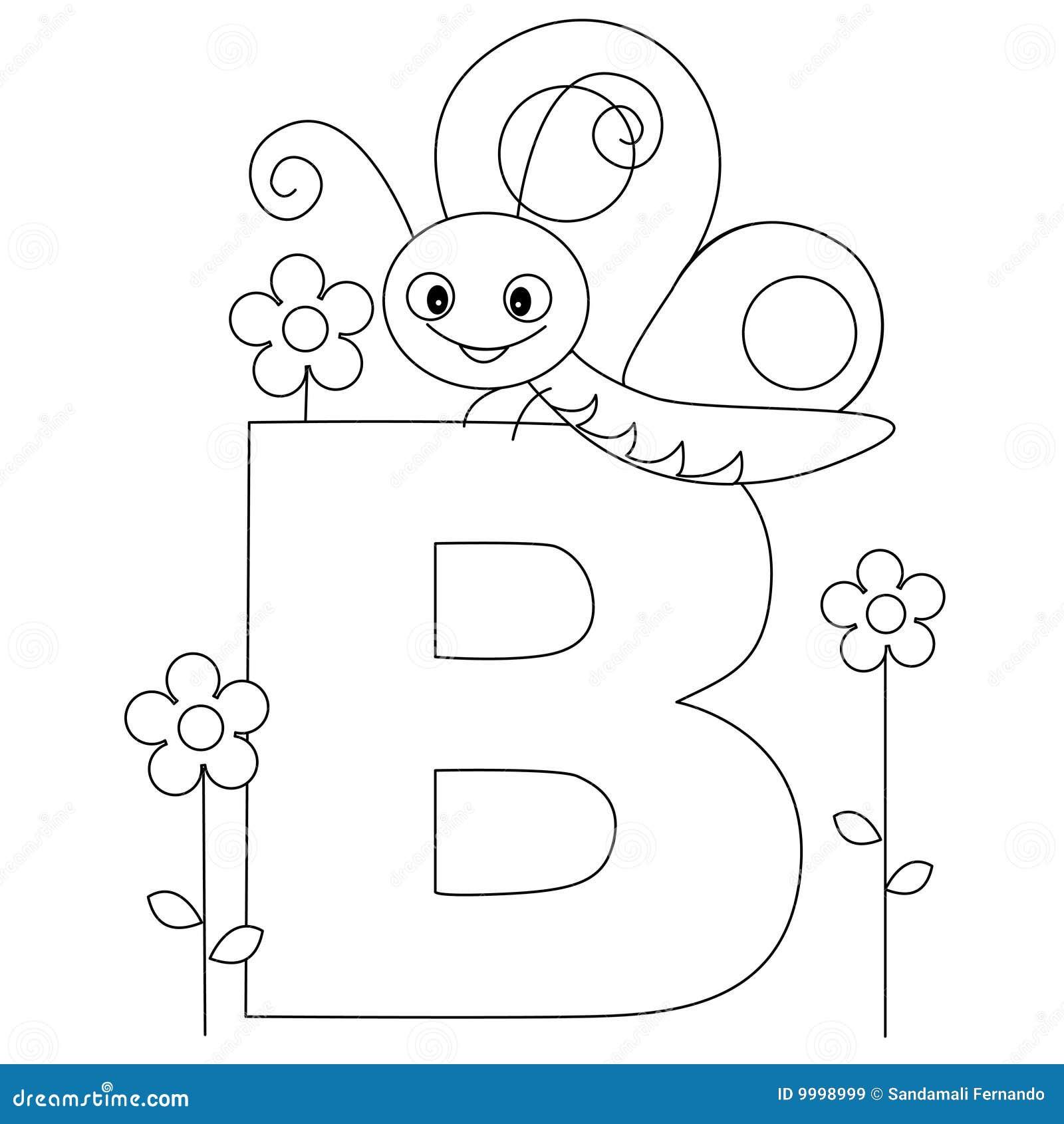 Pagina animale di coloritura di alfabeto B