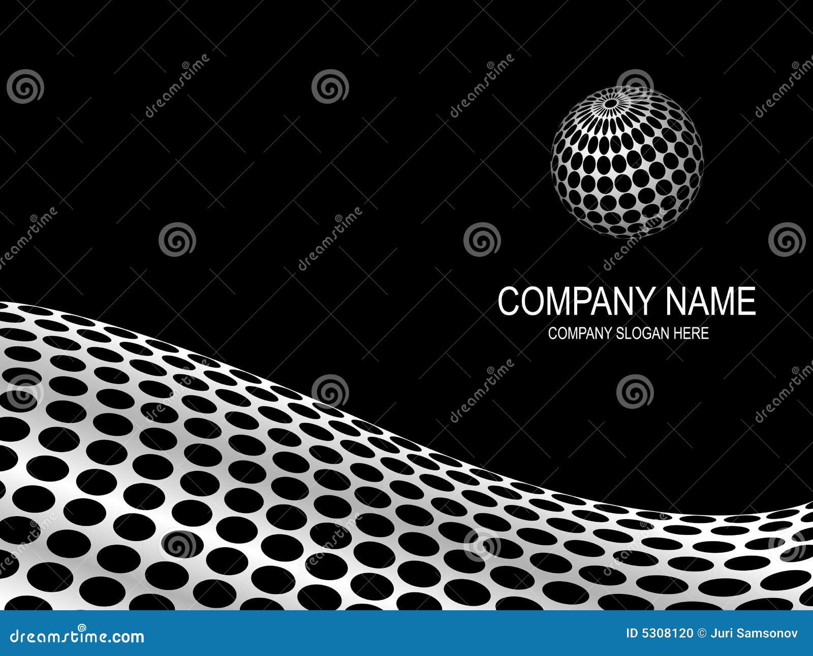 Download Pagina Astratta Dell'azienda. Illustrazione Vettoriale - Illustrazione di ovale, commercio: 5308120