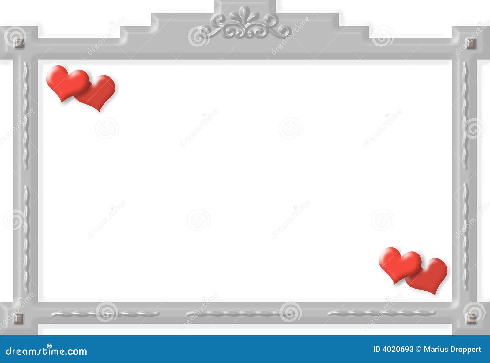 Pagina con gli ornamenti ed i cuori