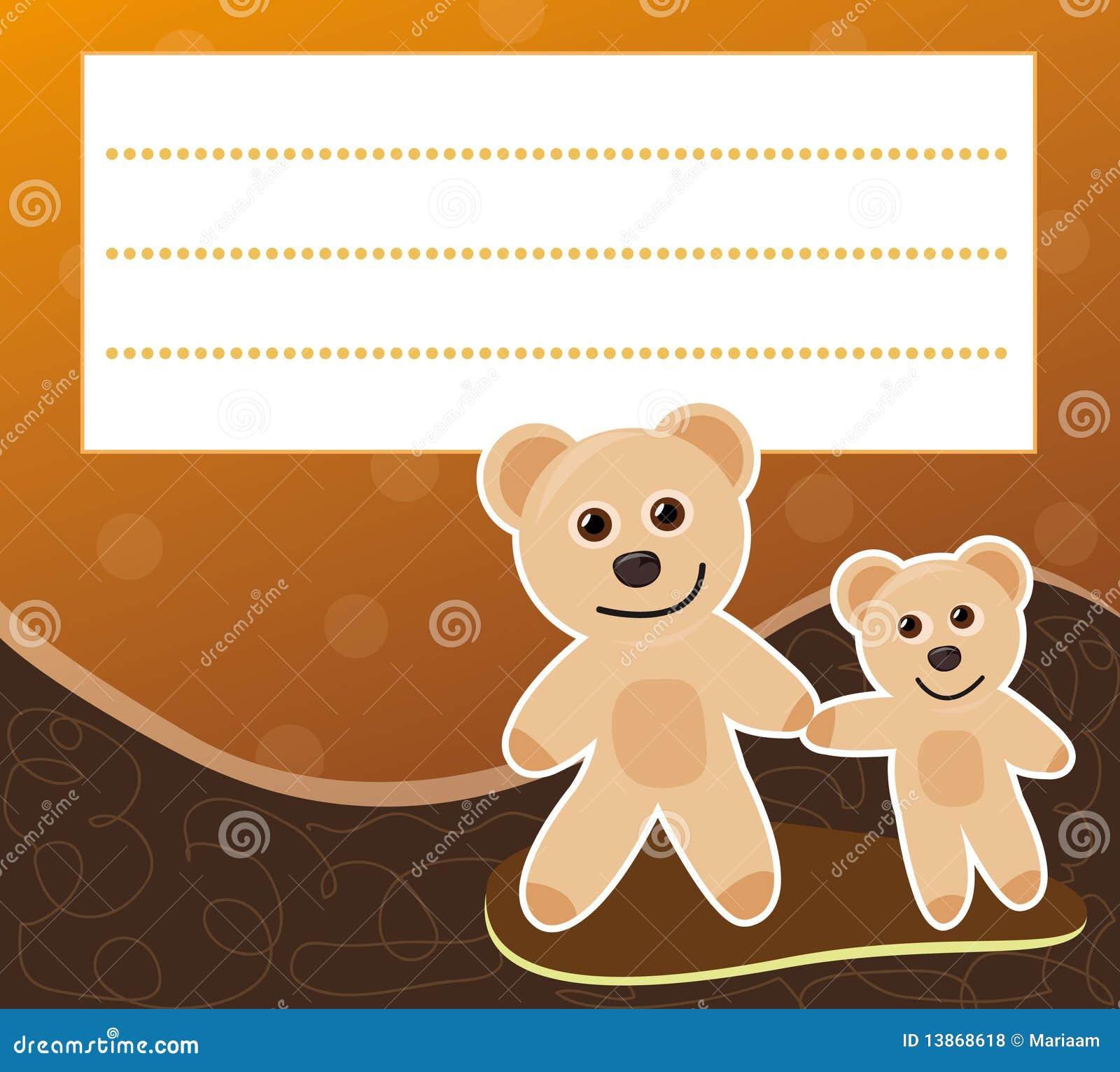 Pagina con gli orsi di orsacchiotto