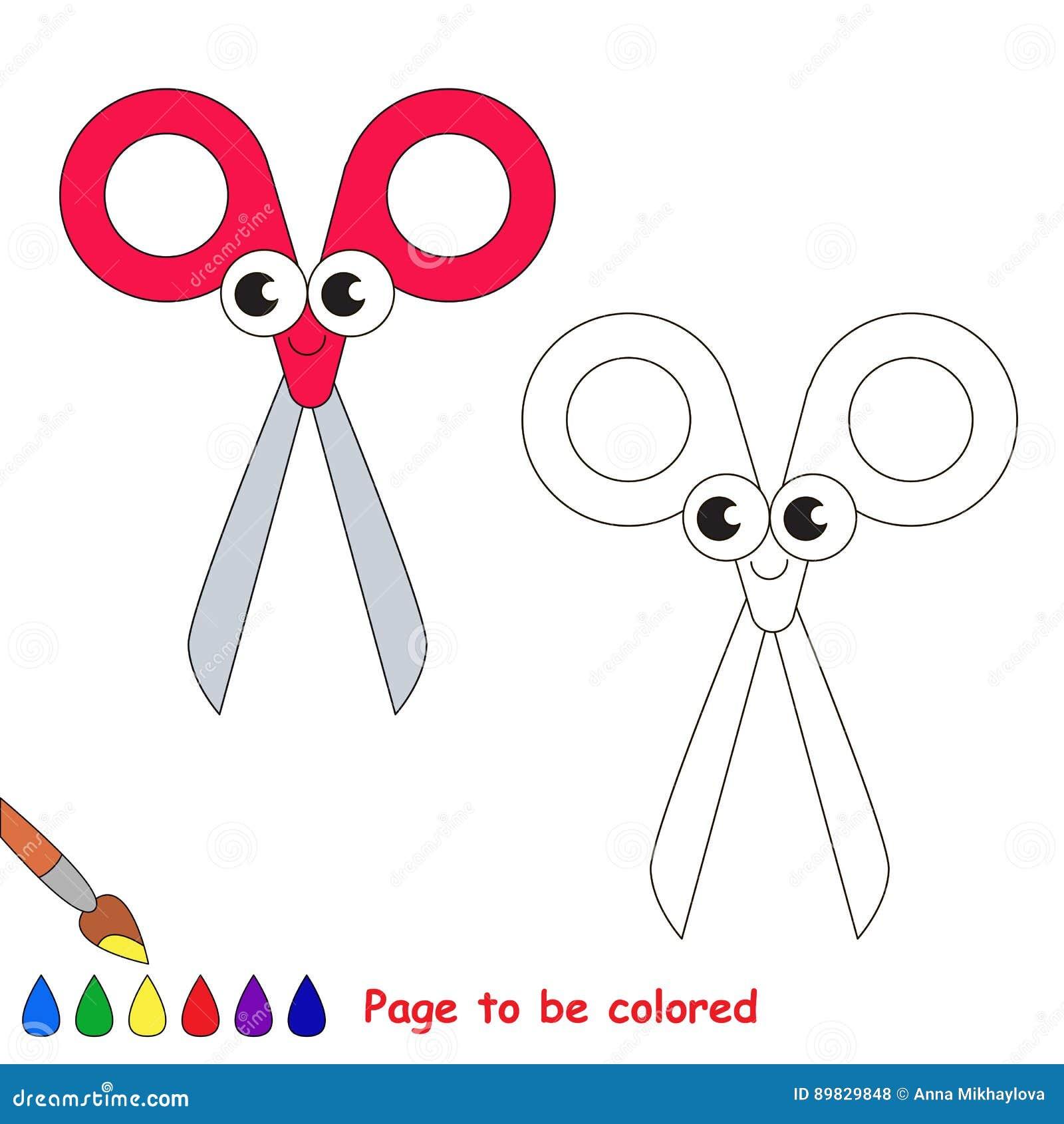 Pagina Da Colorare Gioco Semplice Di Istruzione Per I Bambini