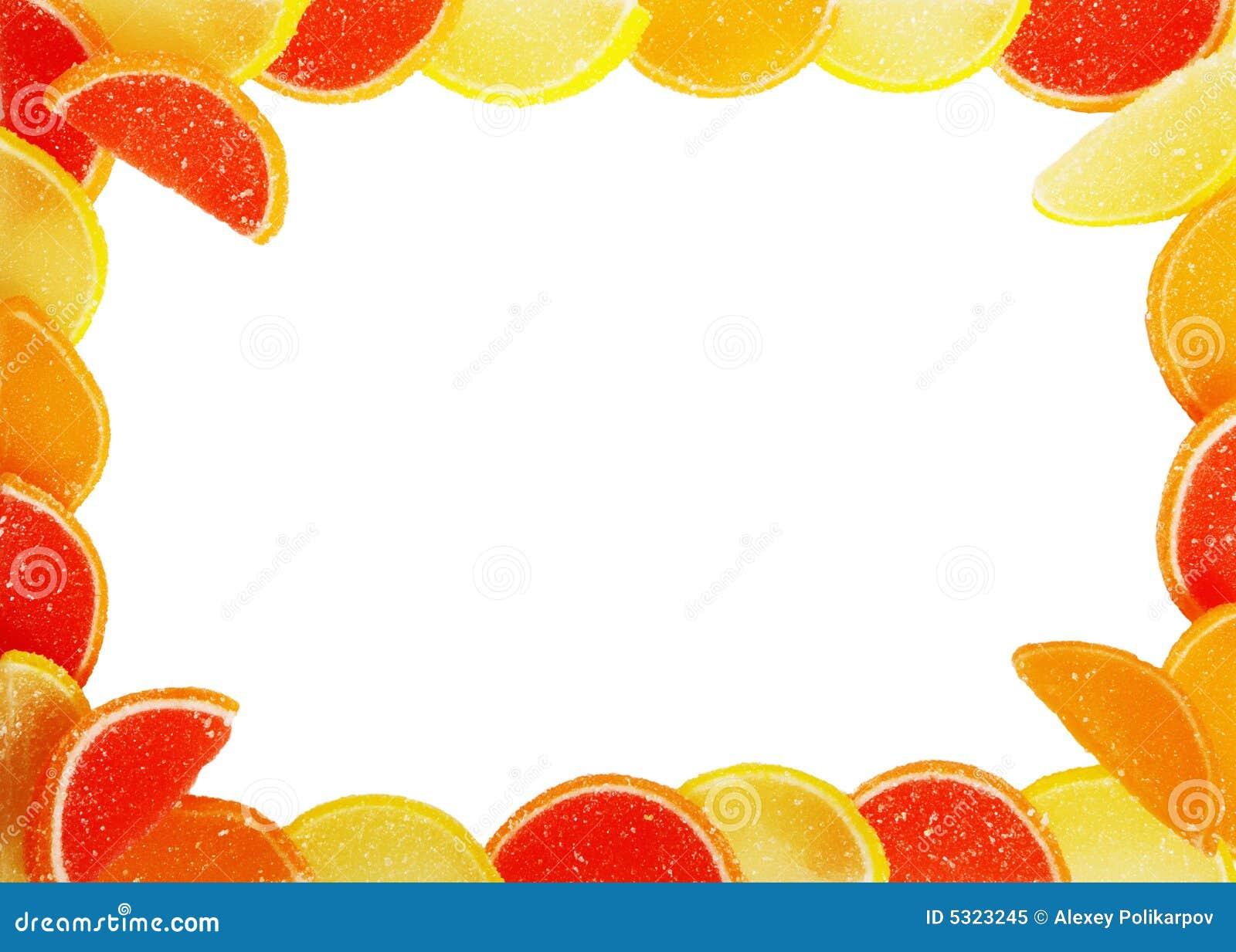 Download Pagina Dalla Caramella Della Frutta Immagine Stock - Immagine di blank, limone: 5323245