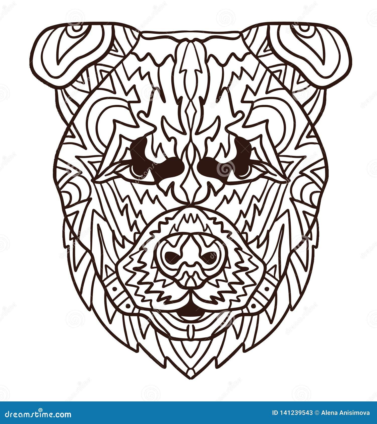 Pagina Del Libro Da Colorare Del Cucciolo Di Cane Arrabbiato
