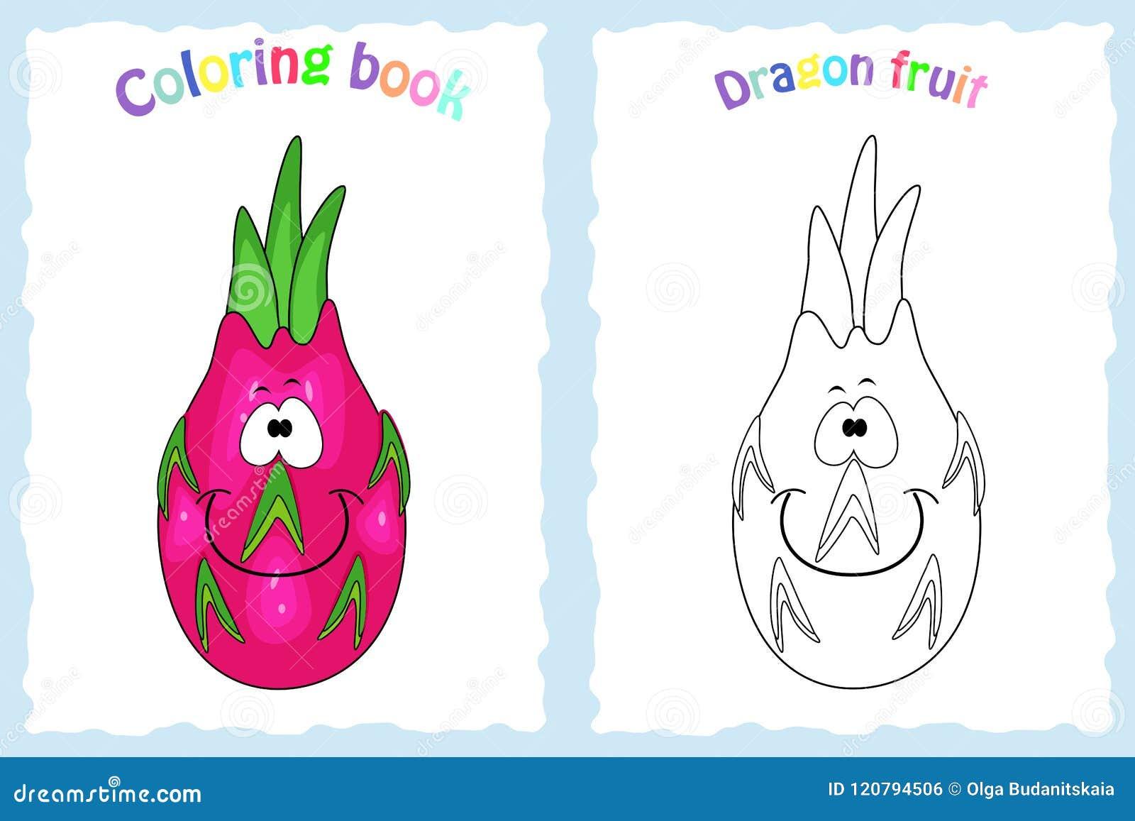 Pagina Del Libro Da Colorare Per I Bambini Con La Frutta Variopinta