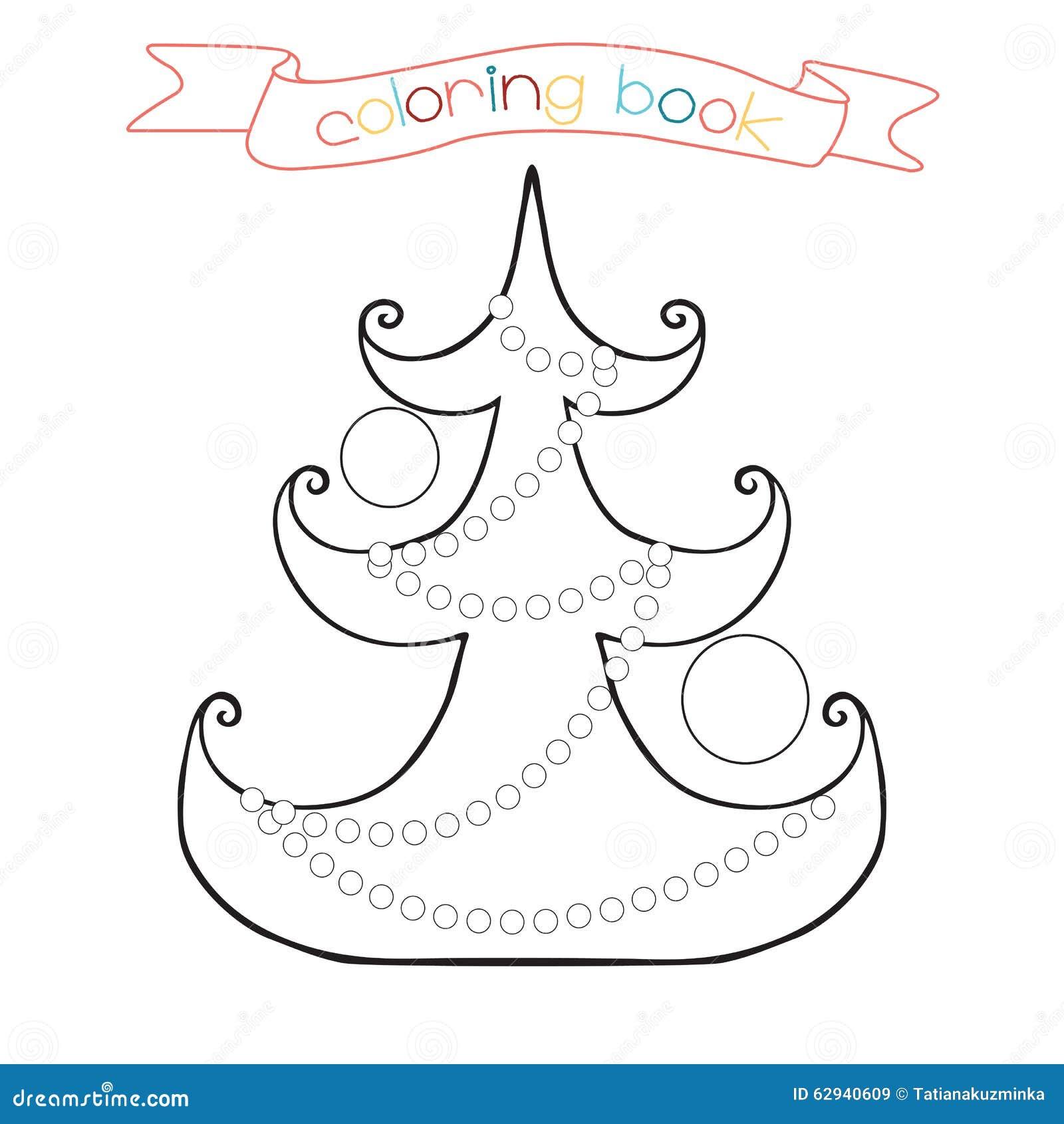 Pagina Di Coloritura Con L Albero Di Natale Scena Di Inverno Nell