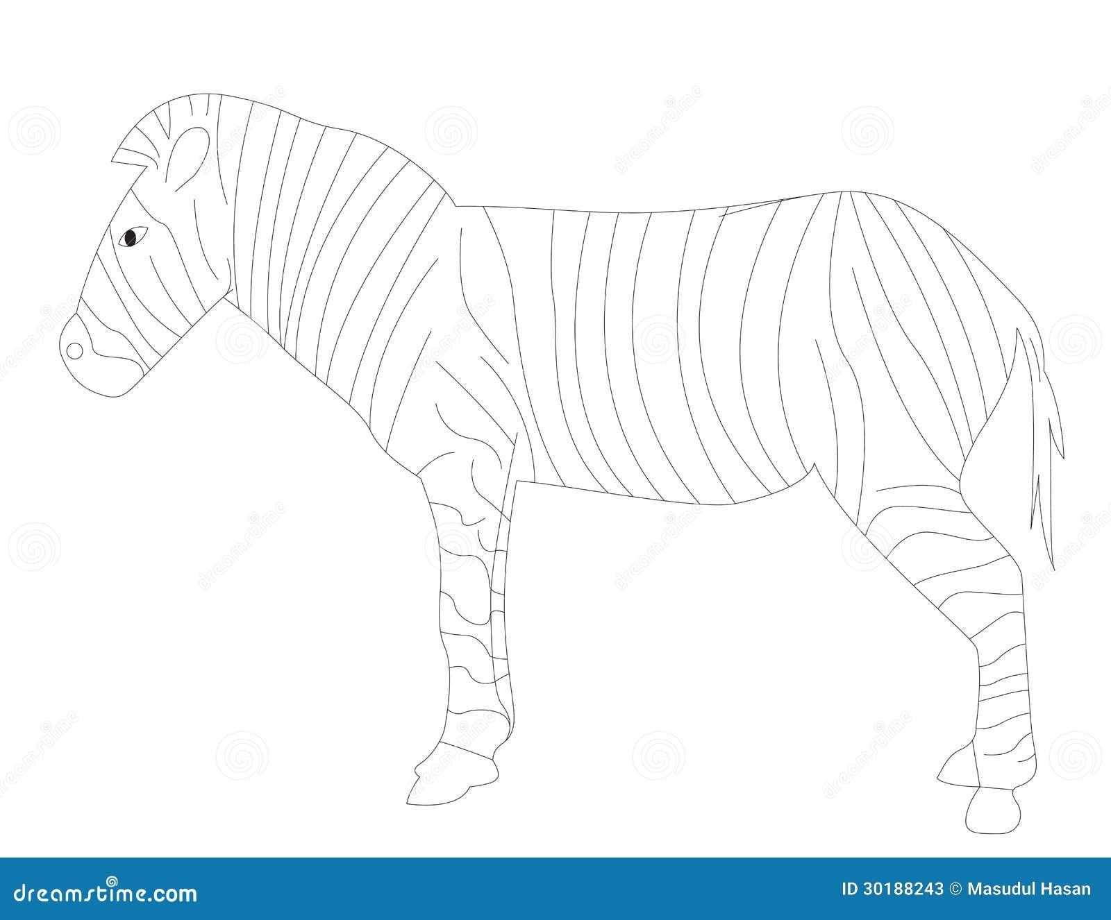 Libro Da Colorare Z Per La Zebra Illustrazione Vettoriale