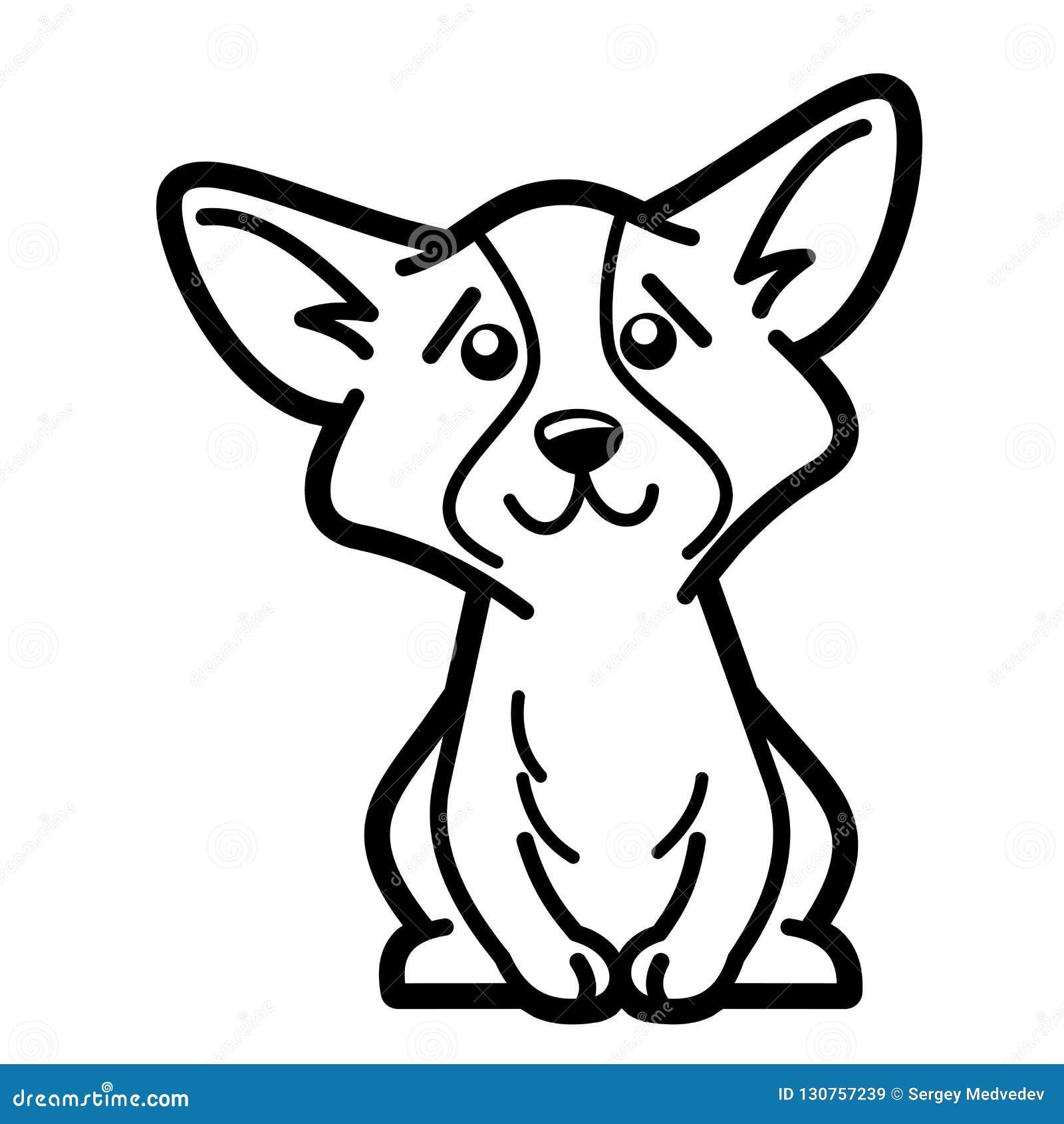 Disegno Cane Bianco E Nero.Pagina Di Coloritura Del Personaggio Dei Cartoni Animati Del