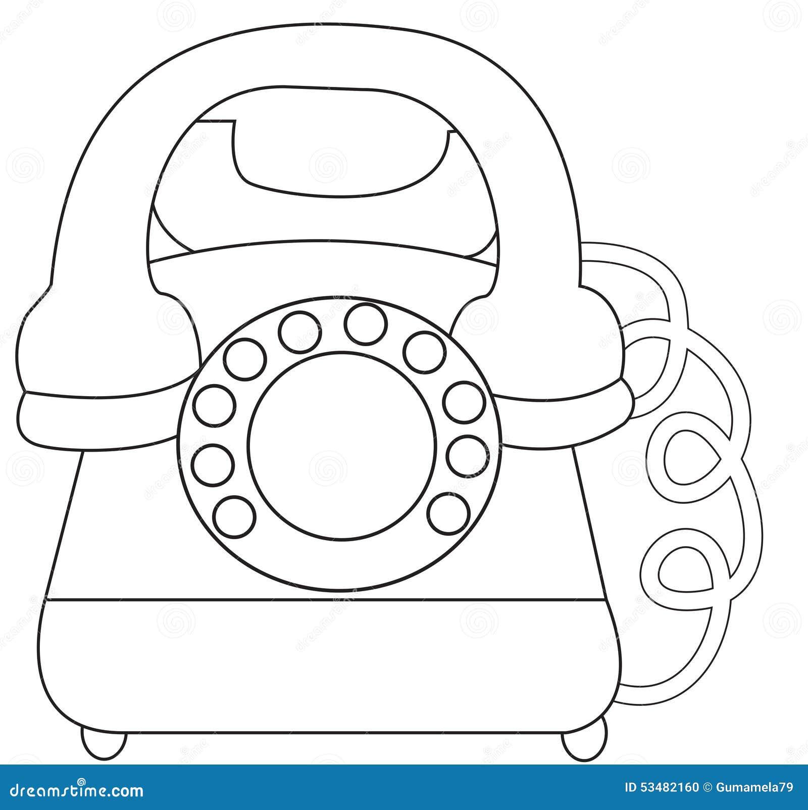 Pagina Di Coloritura Del Telefono Illustrazione Di Stock