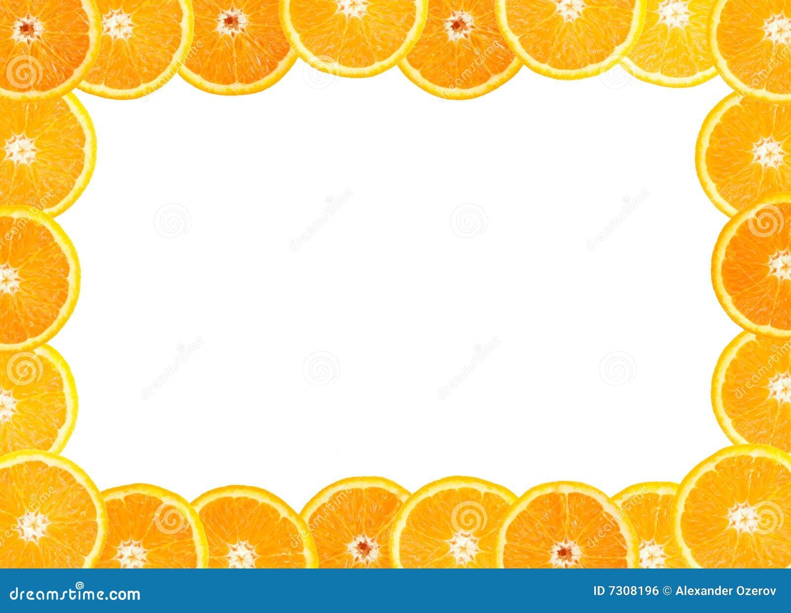 Pagina di frutta arancione fresca
