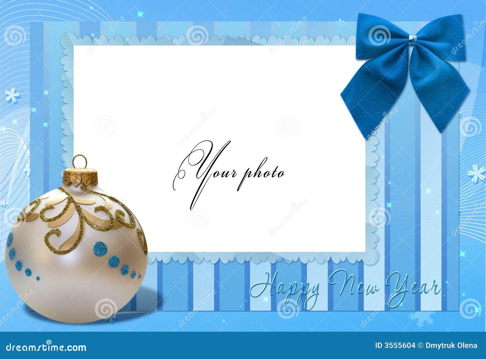 Pagina l azzurro con la sfera di natale