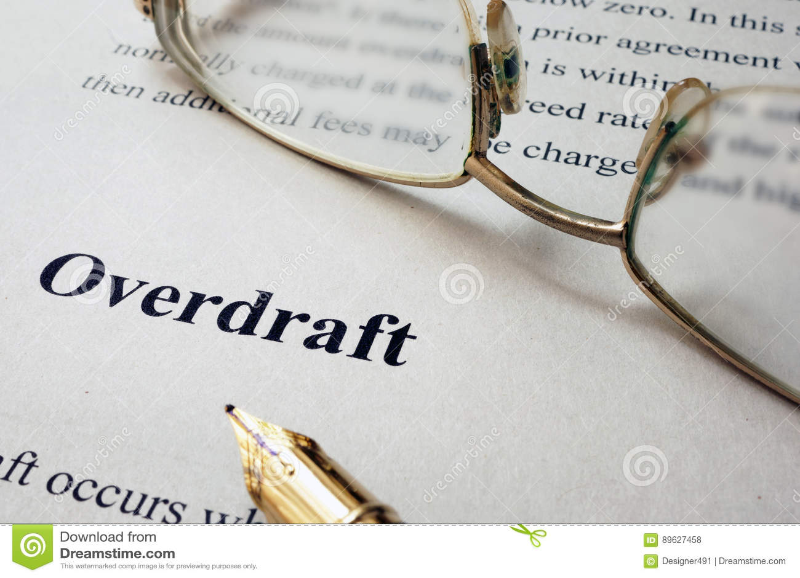 Pagina van document met woordenbankschuld