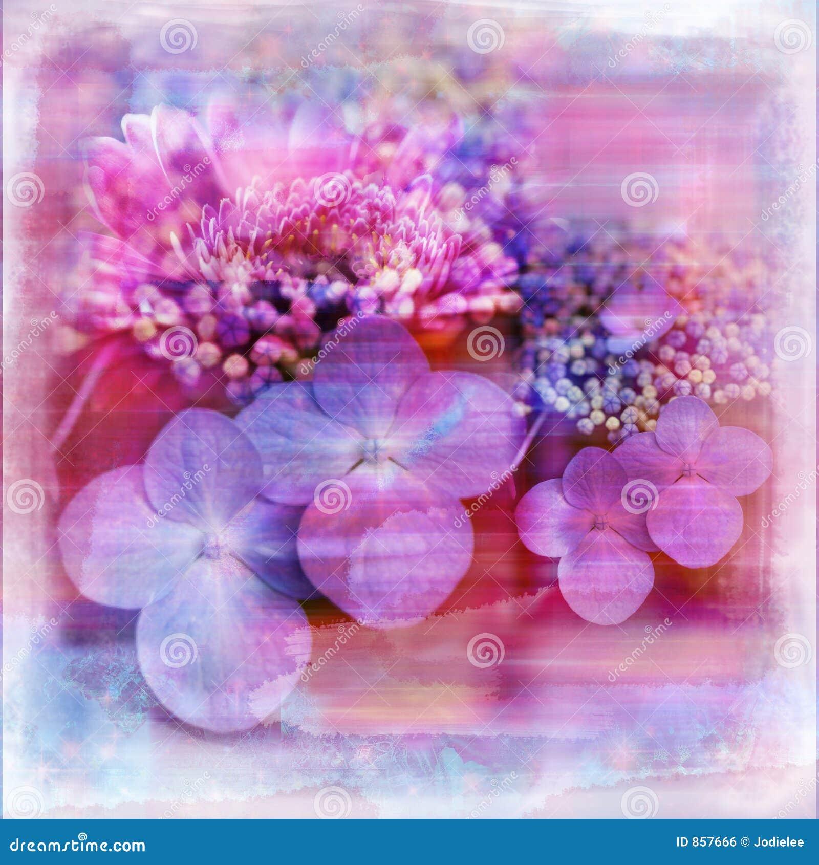 Paginación lamentable suave del libro de recuerdos del jardín de flor de la acuarela