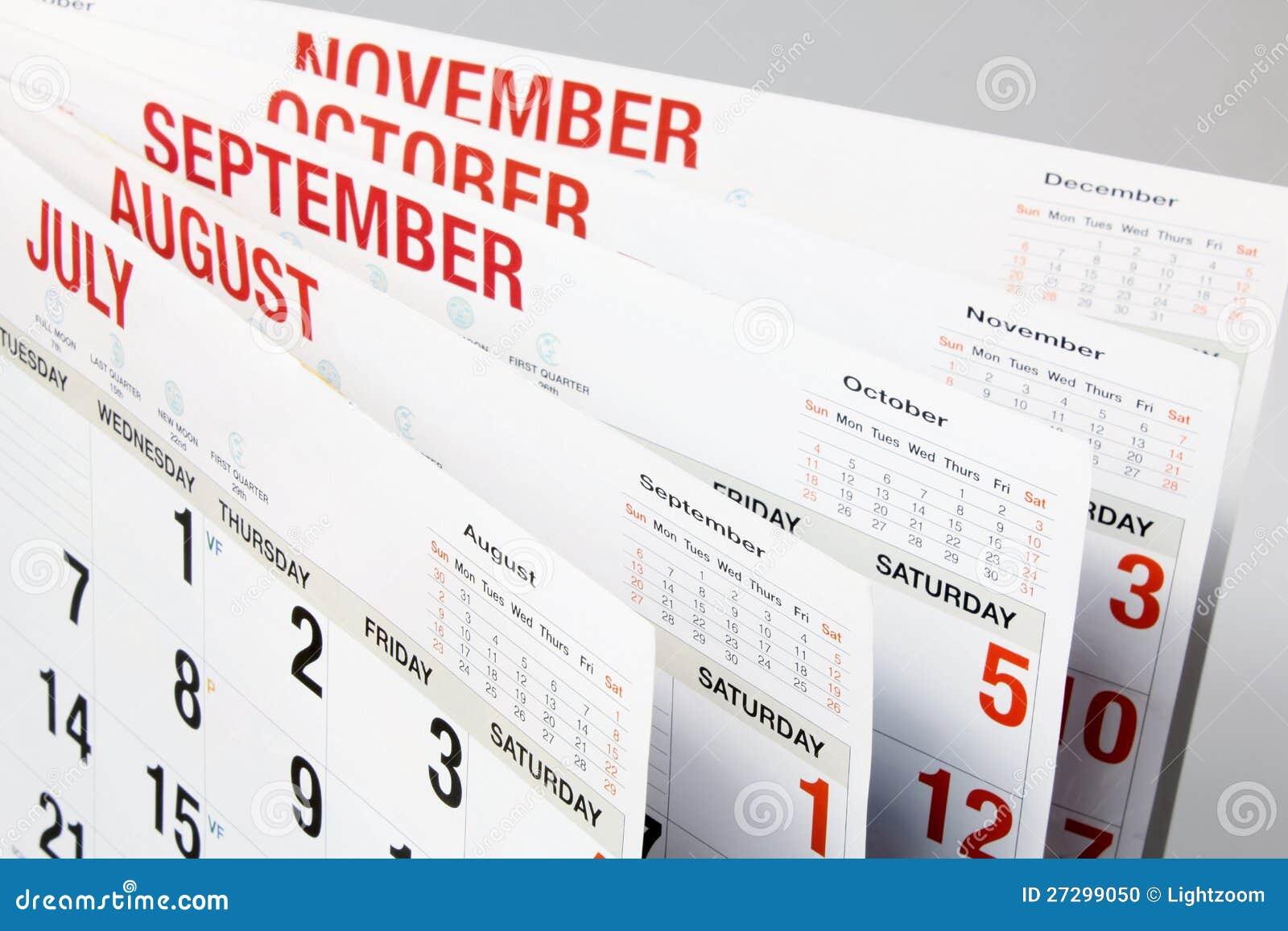 Paginaciones del calendario