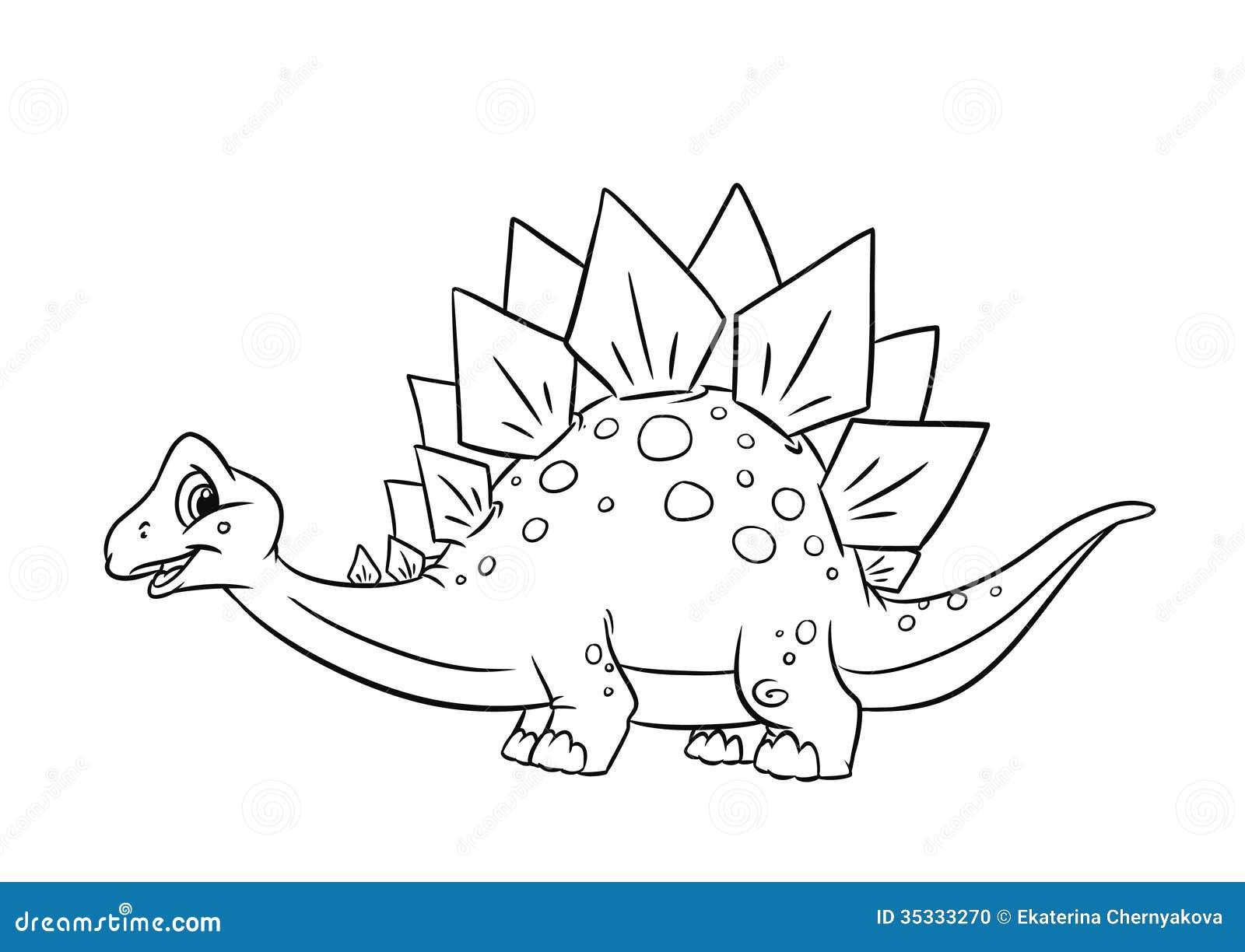 Pagine di coloritura di stegosauro del dinosauro - Stampa pagine da colorare dinosauro ...