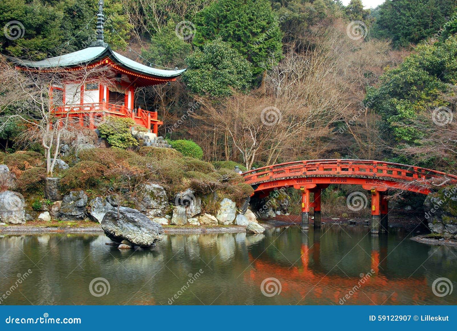 Pagoda bridge stock image. Image of kyoto, garden, east - 59122907