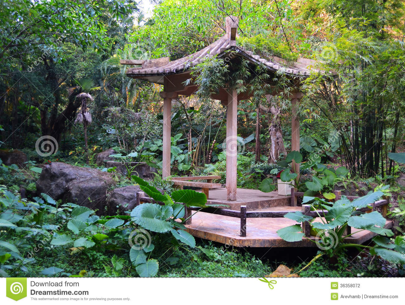 Pagoda In Chinese Garden Stock Photography Image 36358072