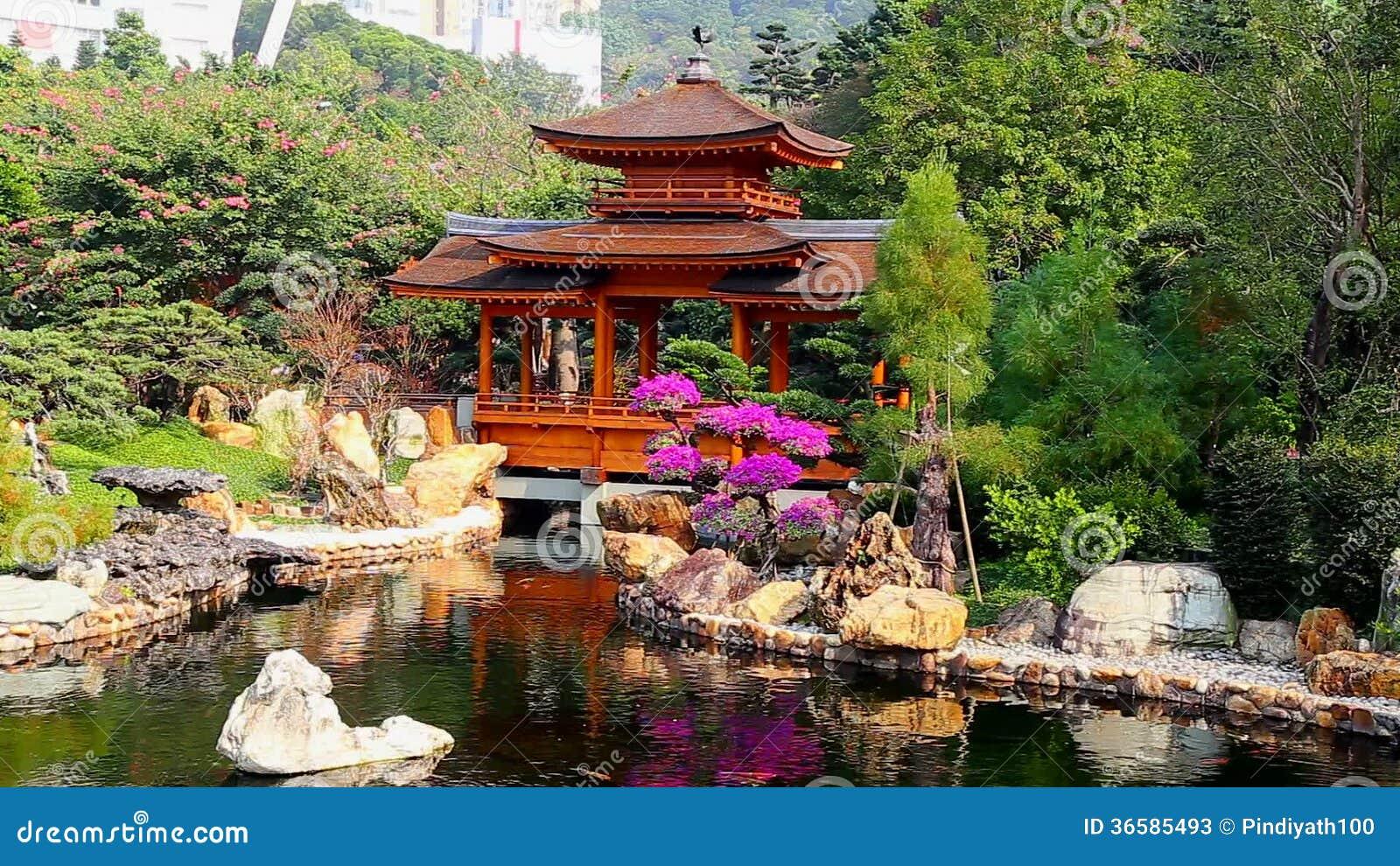 Pagoda dans le jardin chinois de zen m trage 6 pagoda for Jardin chinois zen