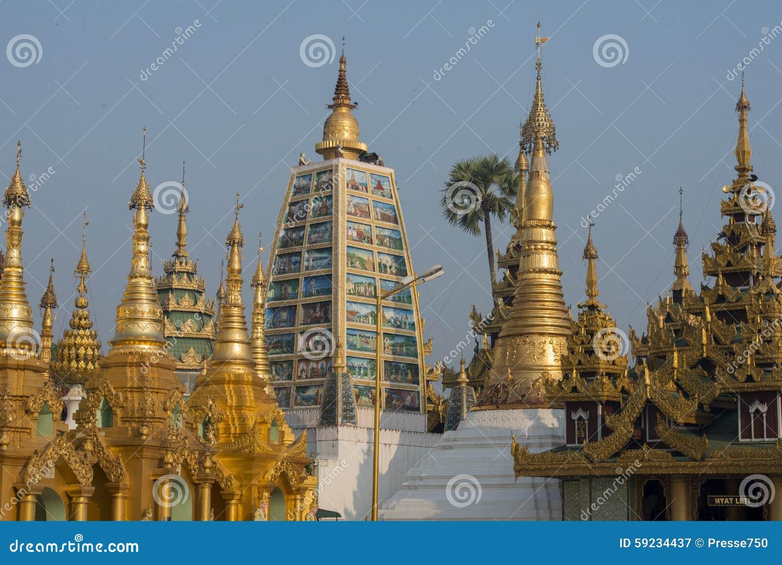 Download PAGODA DE ASIA MYANMAR RANGÚN SHWEDAGON Imagen de archivo - Imagen de myanmar, configuración: 59234437