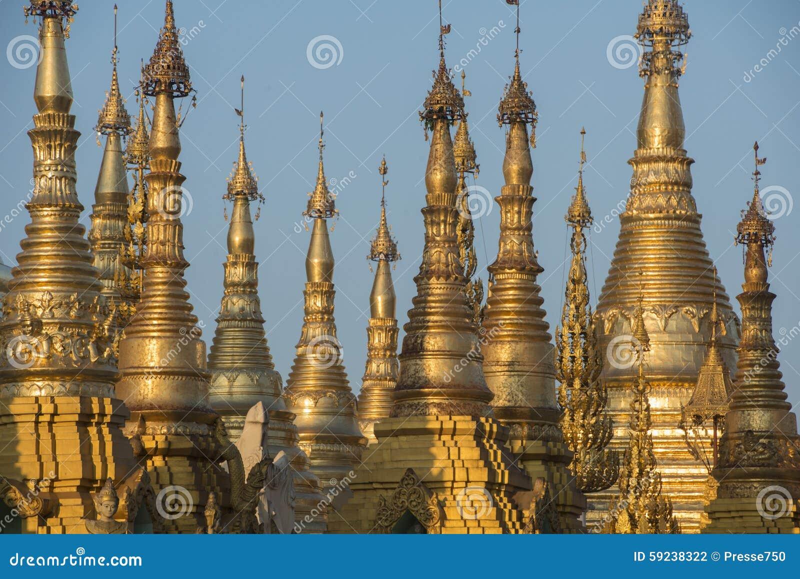 Download PAGODA DE ASIA MYANMAR RANGÚN SHWEDAGON Foto de archivo - Imagen de birmania, configuración: 59238322