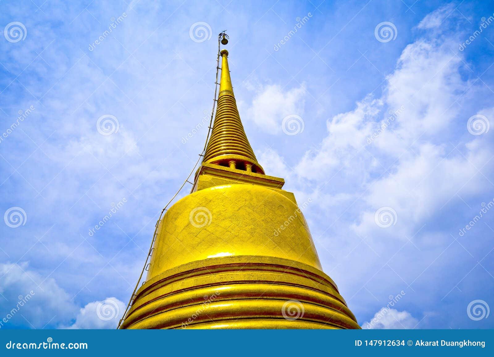Pagoda de Gould et ciel de biue