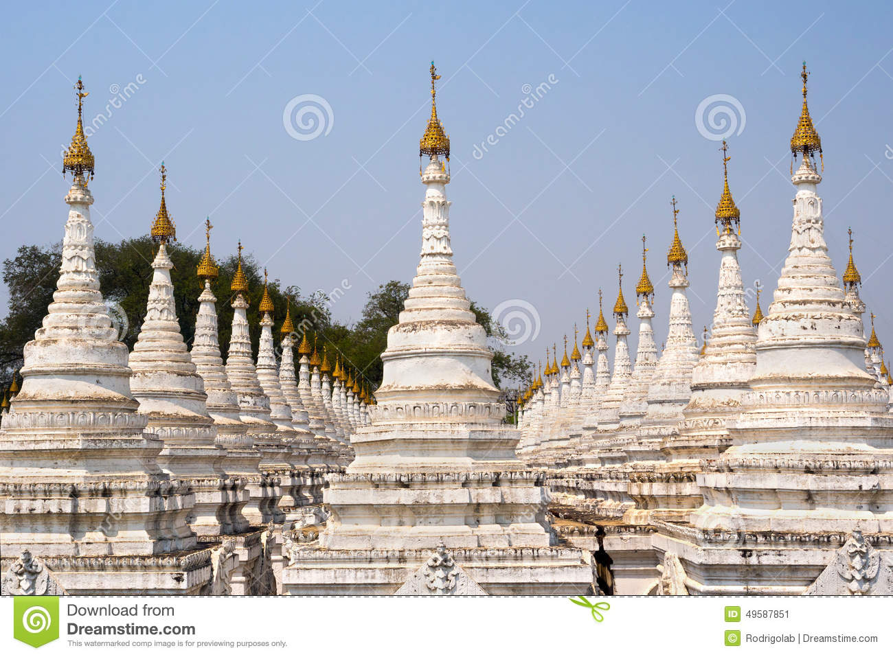 Pagoda De Kuthodaw Le Plus Grand Livre Du Monde A Mandalay