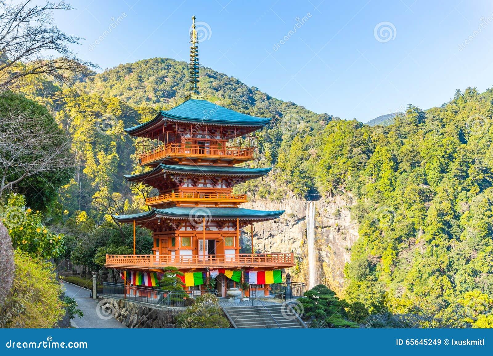 Pagoda de Seiganto-JI et Nachi Falls In Wakayama, Japon