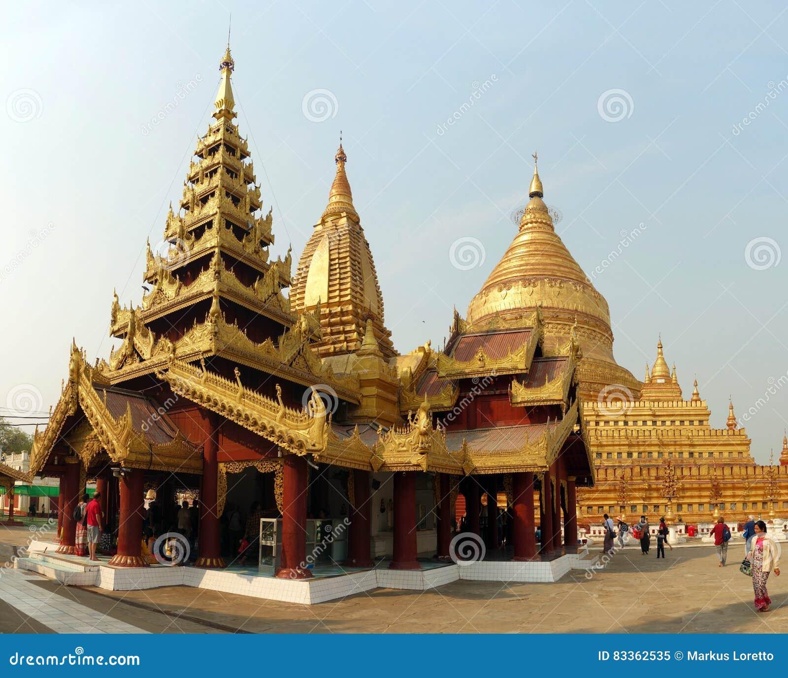 Pagoda del gobierno de Nigeria del zi de Shwe, Bagan, Myanmar