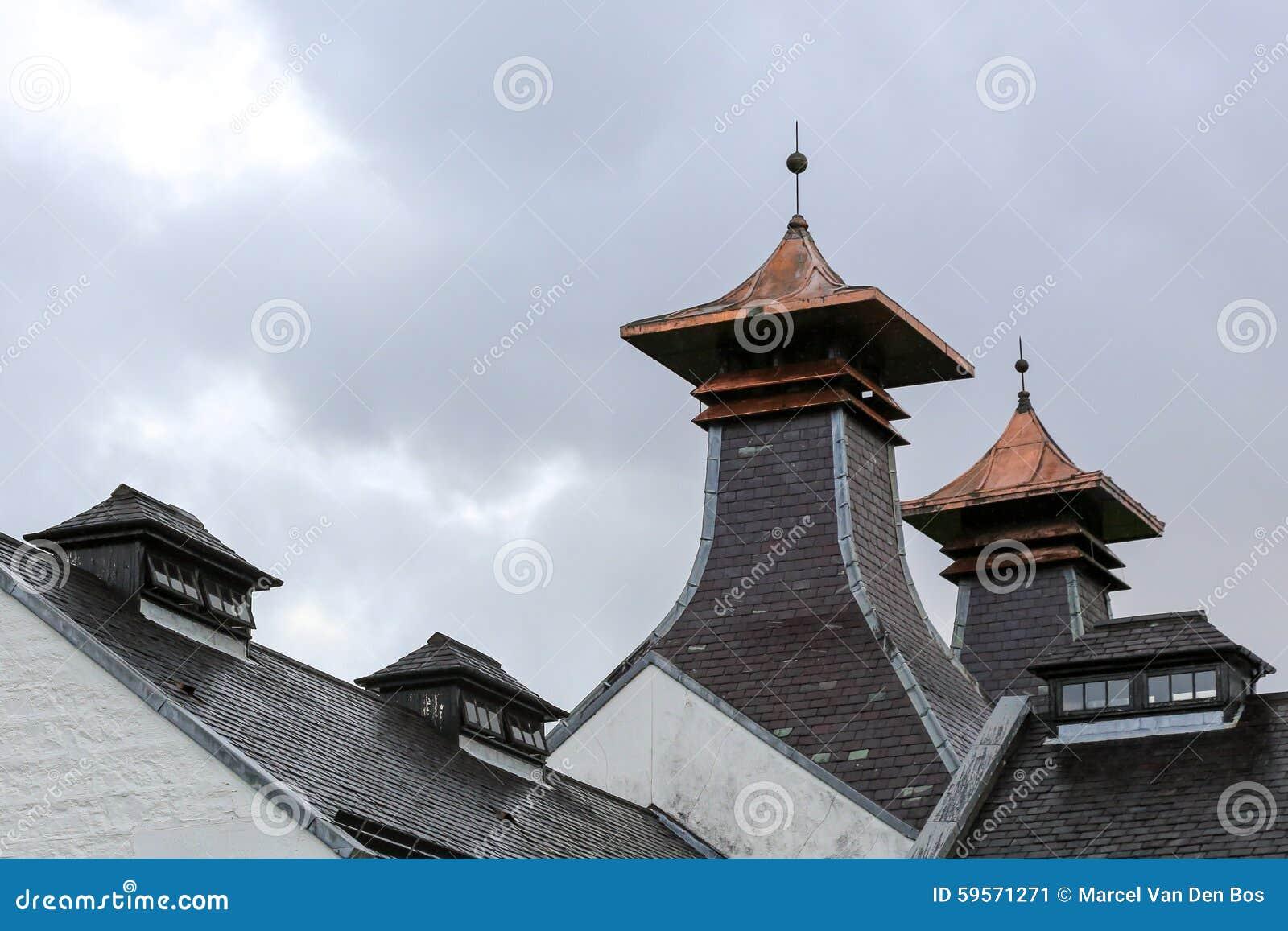 Pagoda della distilleria del whiskey