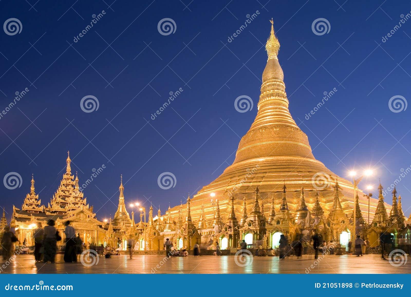 Pagoda di Shwedagon a Yangon, Myanmar (Birmania)