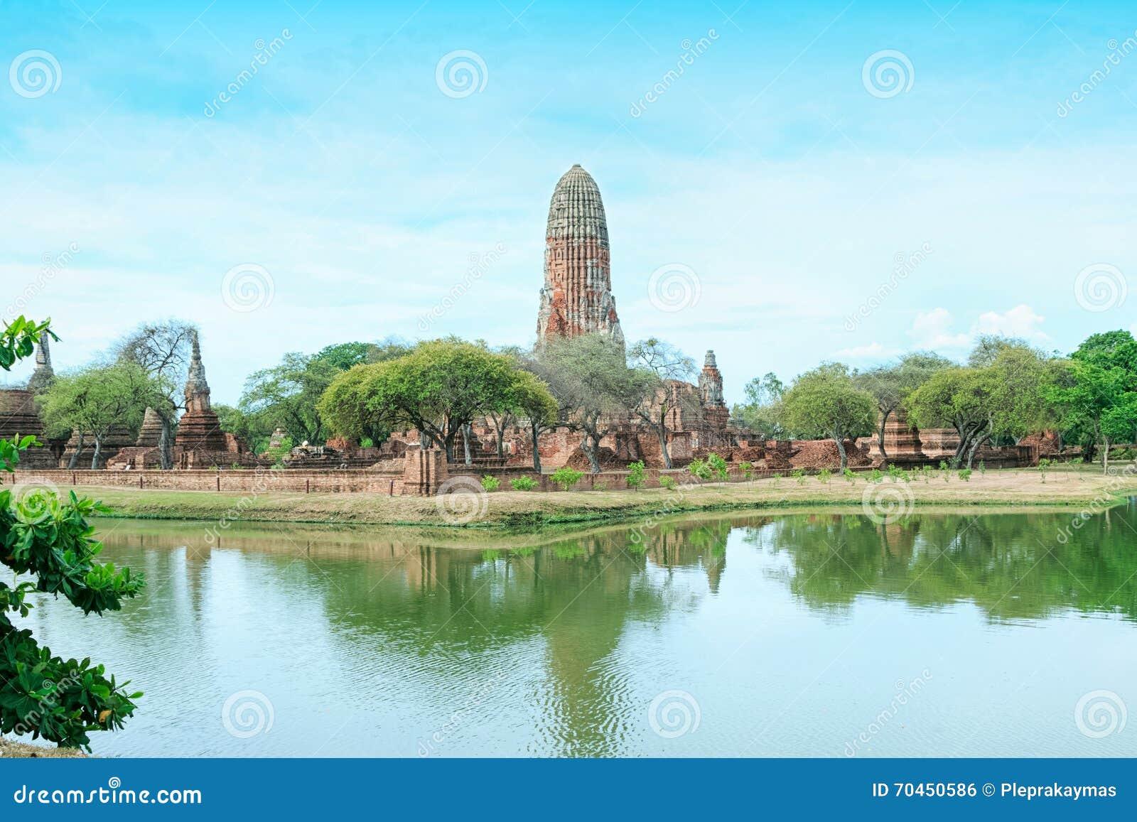 Pagoda en la ciudad antigua, Ayutthaya