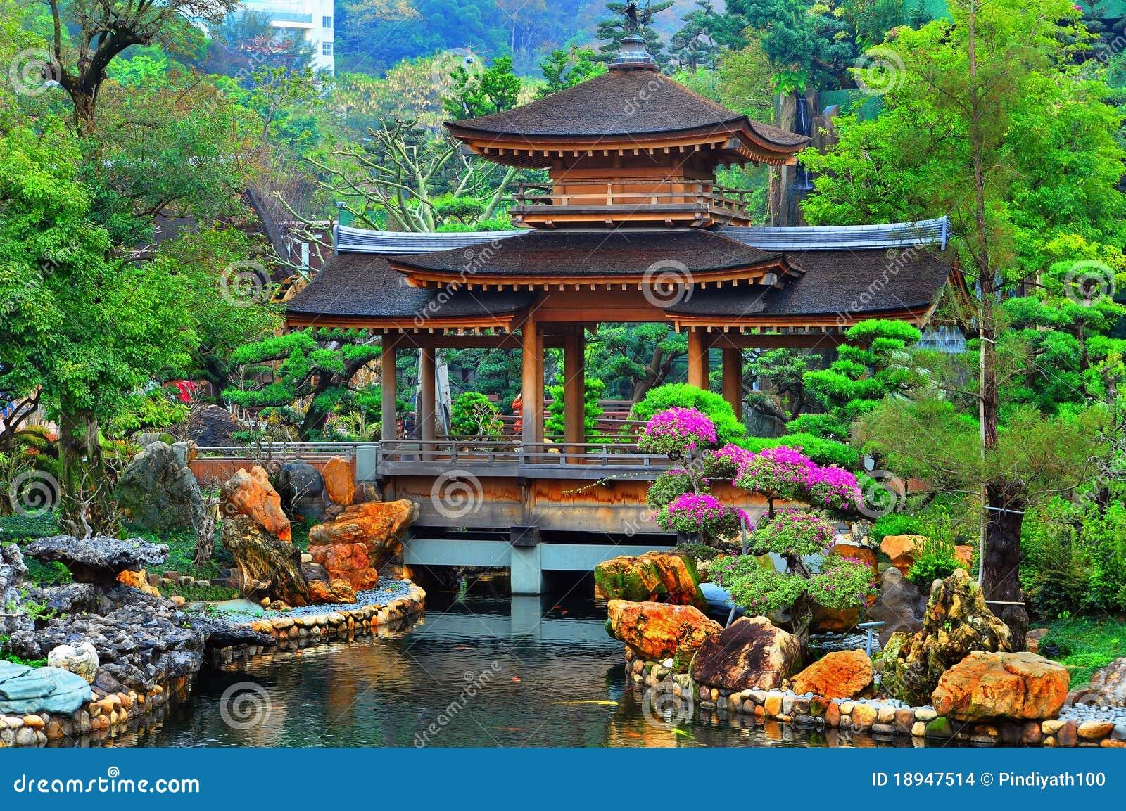 Pagoda in giardino cinese immagini stock immagine 18947514 for Giardino cinese