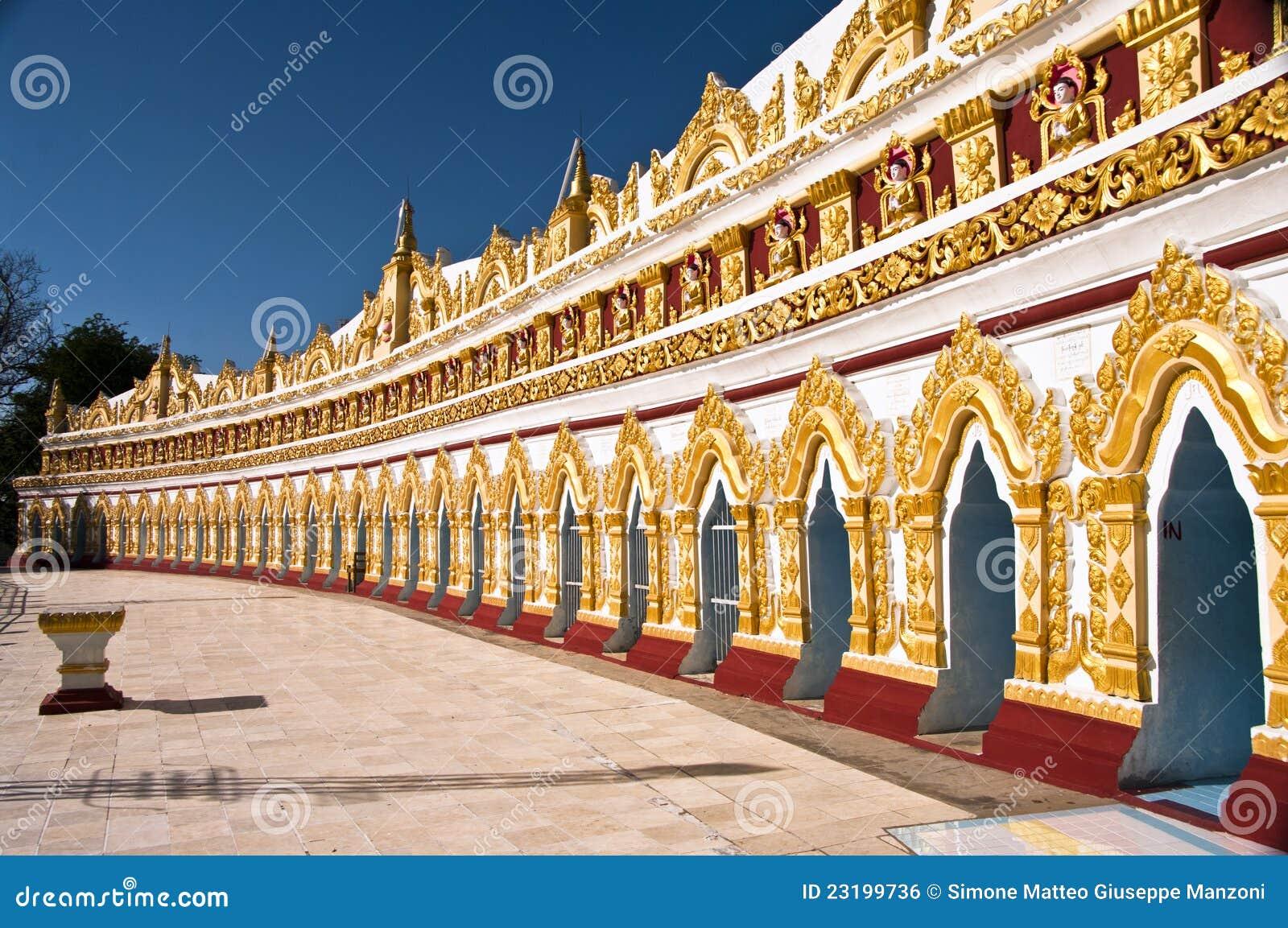 Pagoda minimum d U Dhonesae, Sagaing, Myanmar