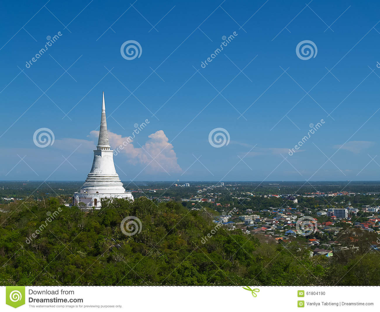 Pagoda on mountain top at Khao Wang Palace; Thailand