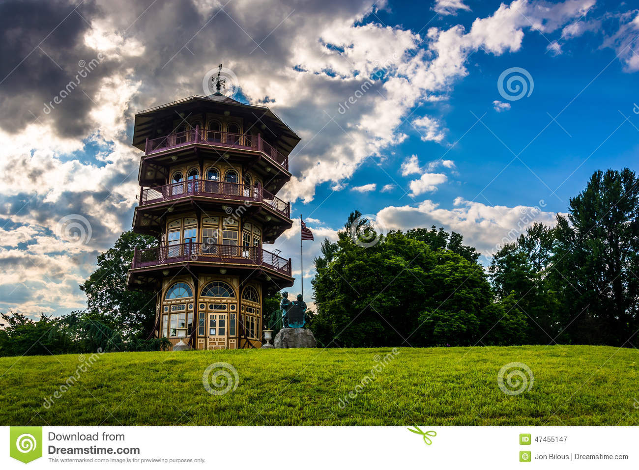 The pagoda at Patterson Park in Baltimore, Maryland.