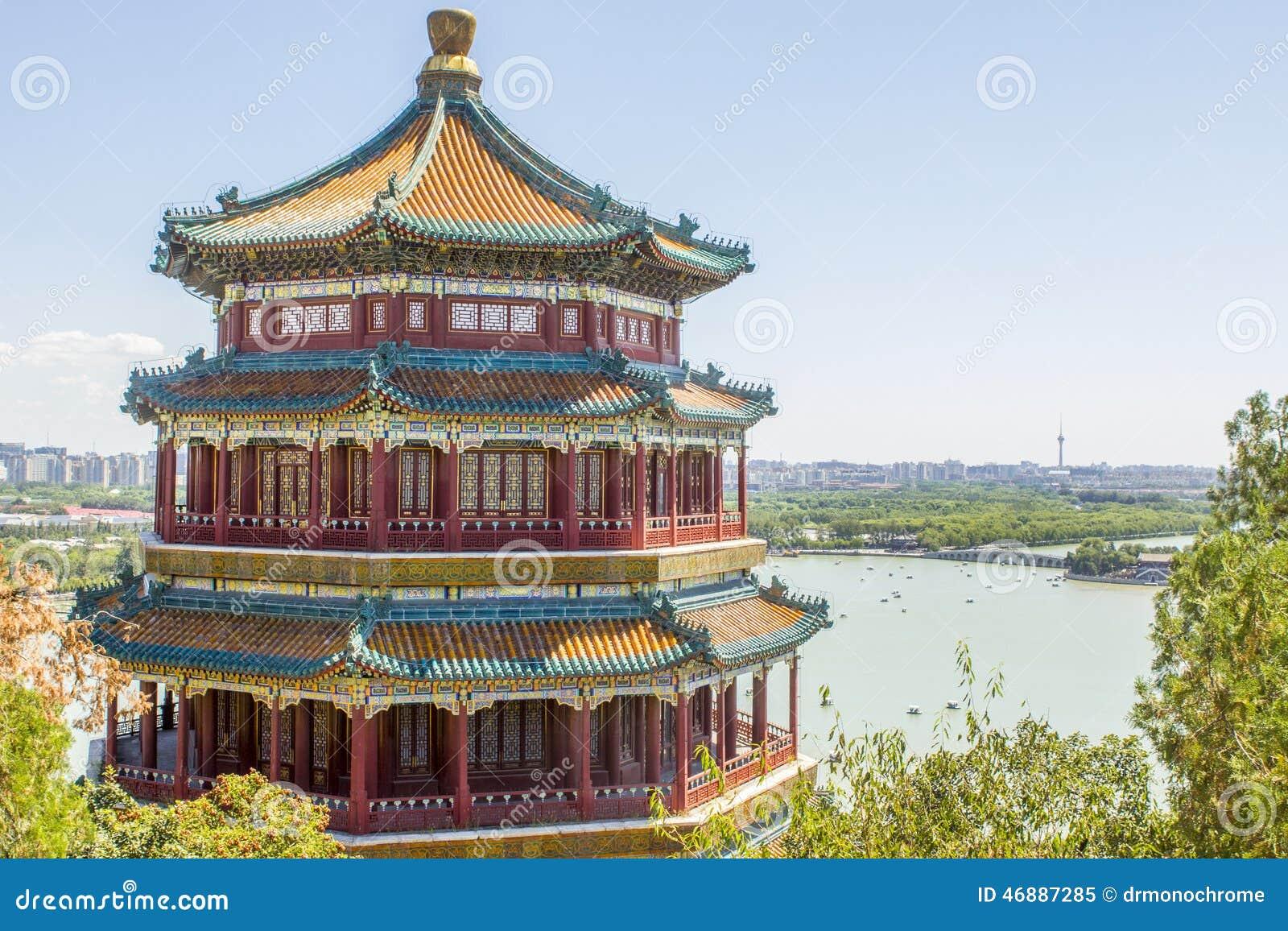 Pagoda Pekín China del palacio de verano