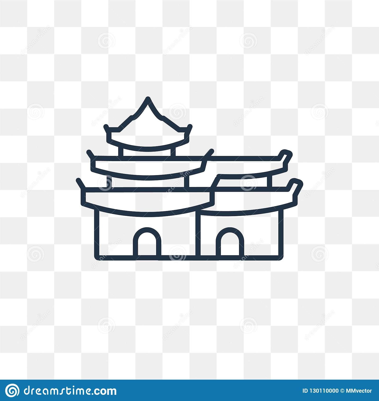 Pagoda Vector Icon Isolated On Transparent Background Linear Pa Stock Vector Illustration Of Line Japan 130110000