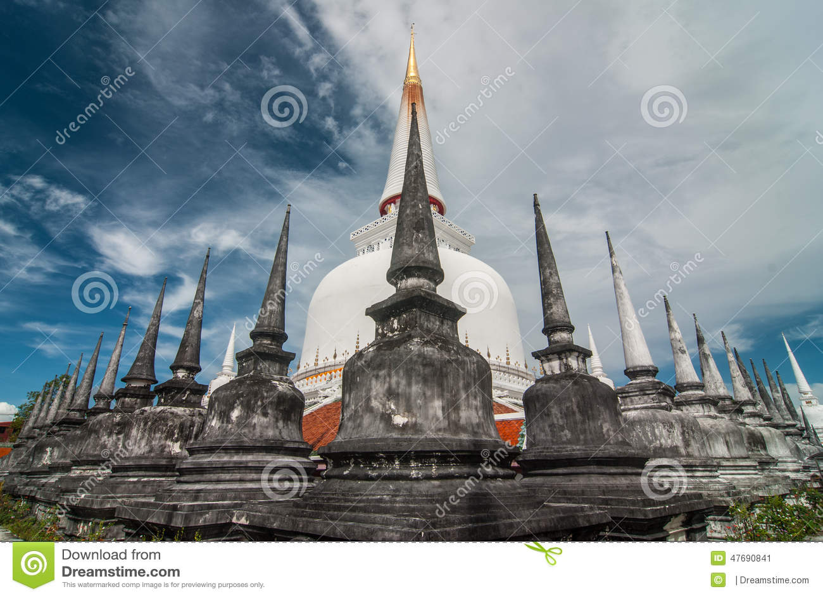 Pagoda In Wat Mahathat  Nakhon Si Thammarat Province