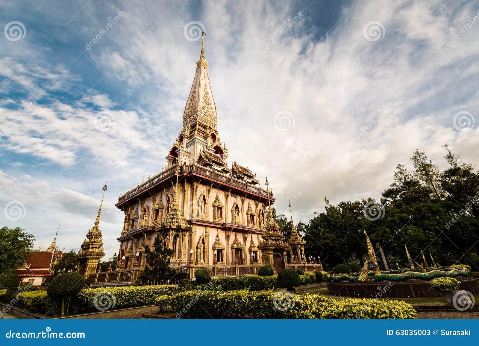 Pagode santamente no templo do chalong