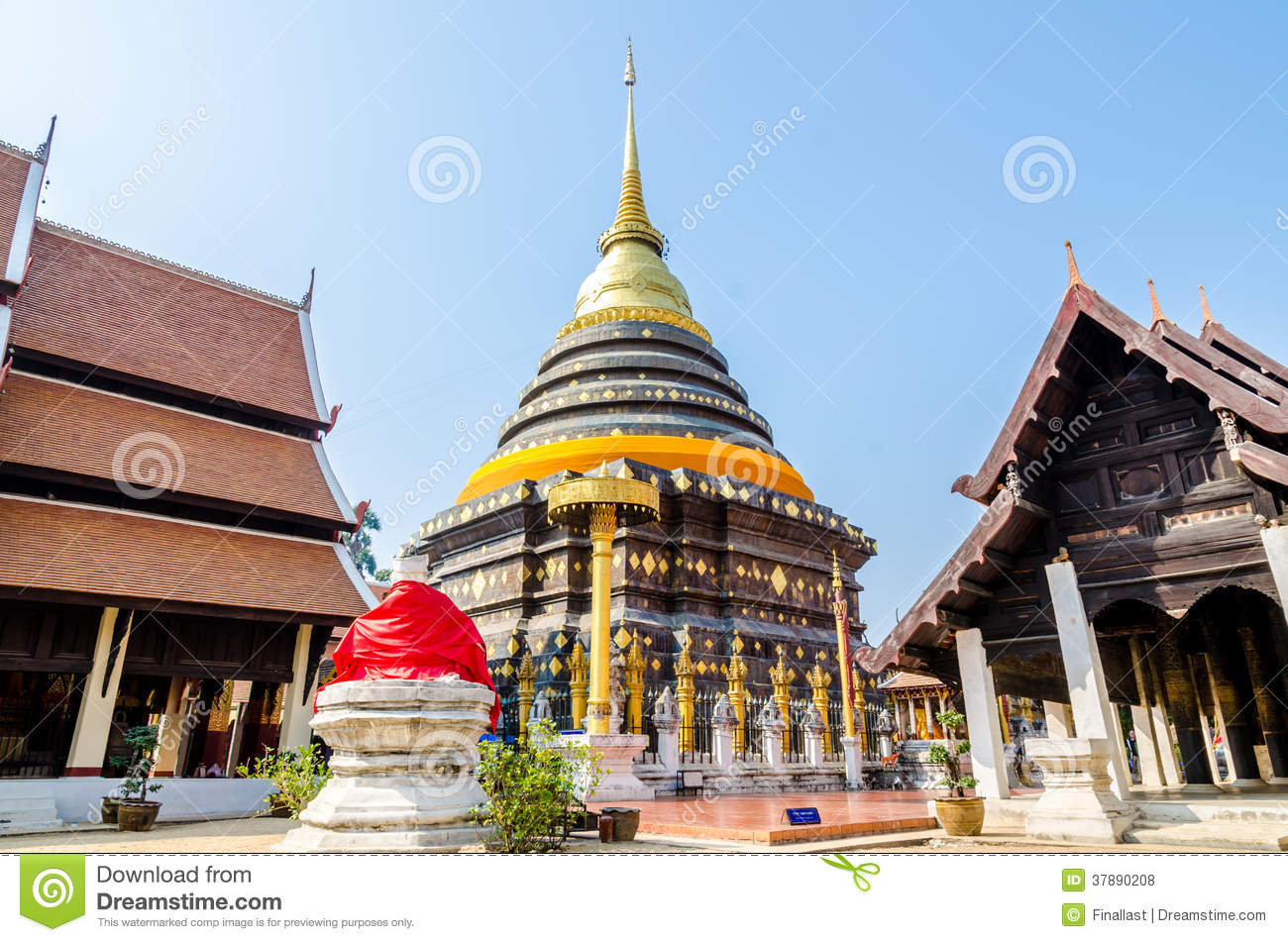 Pagode in Wat Pra That Lampang Luang