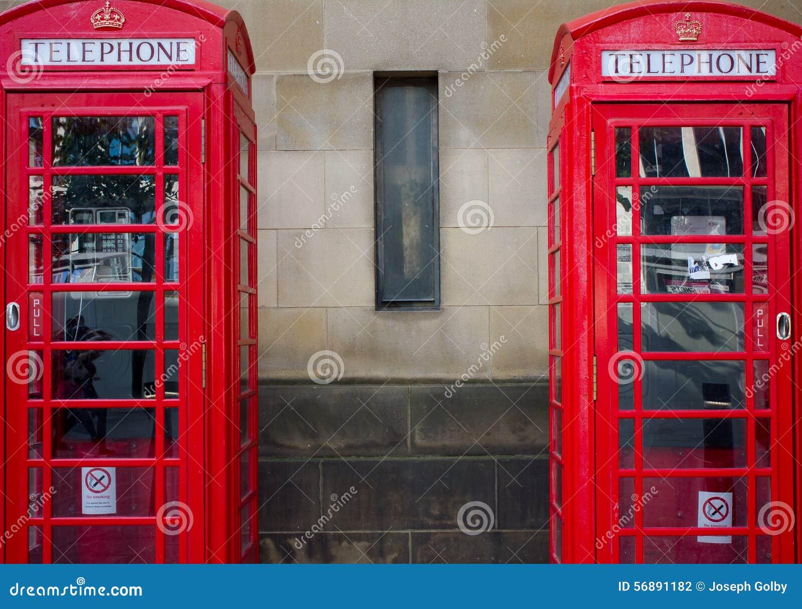 Paia delle cabine telefoniche rosse, Regno Unito