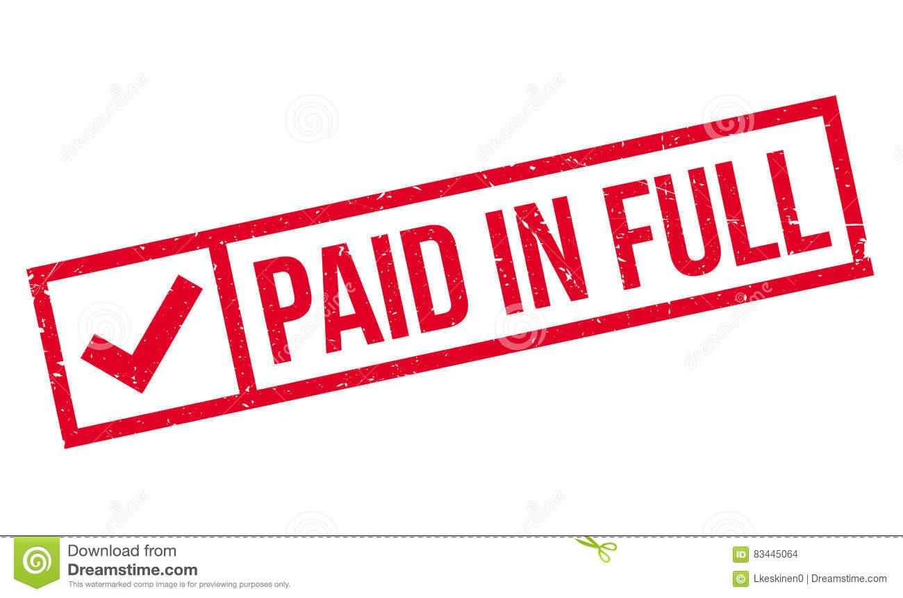Paid In Full Rubber Stamp Stock Illustration Image 83445064
