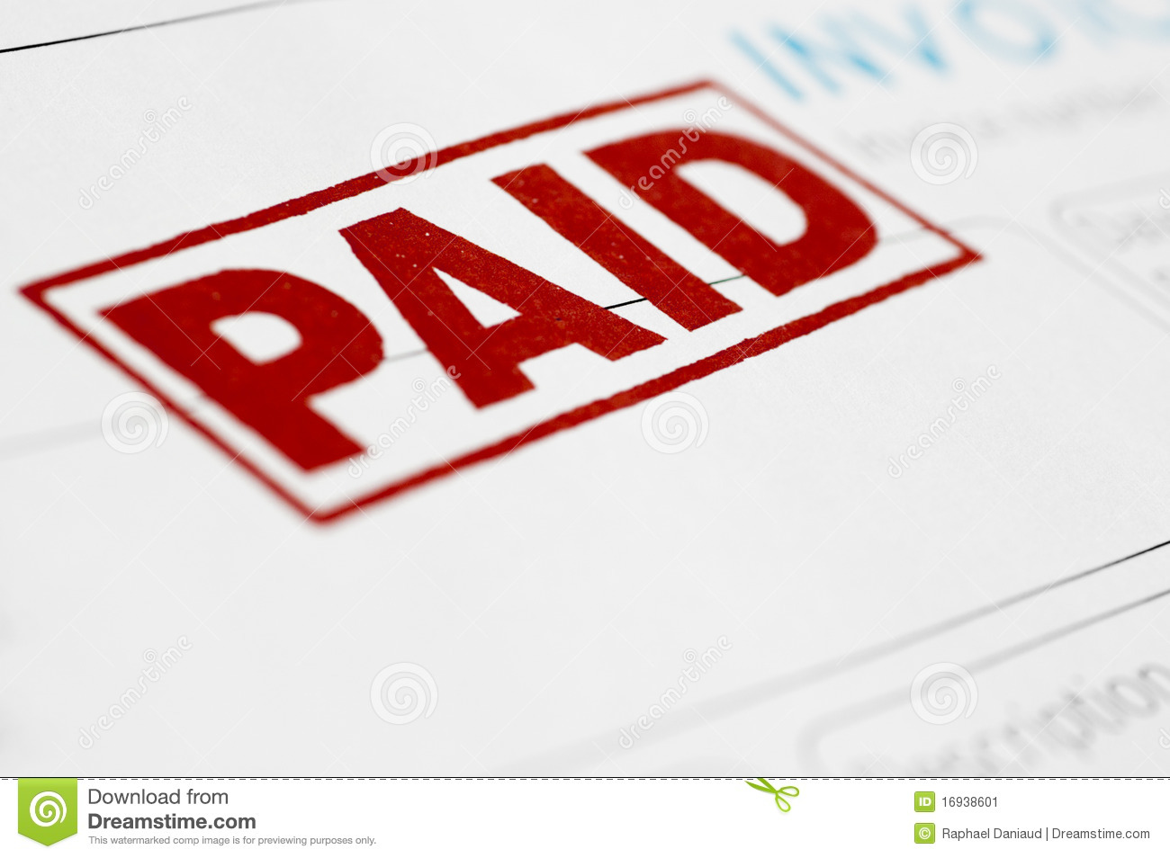 Paid Invoice Stock Image Image Of Numbers Accounting - Invoice paid stamp