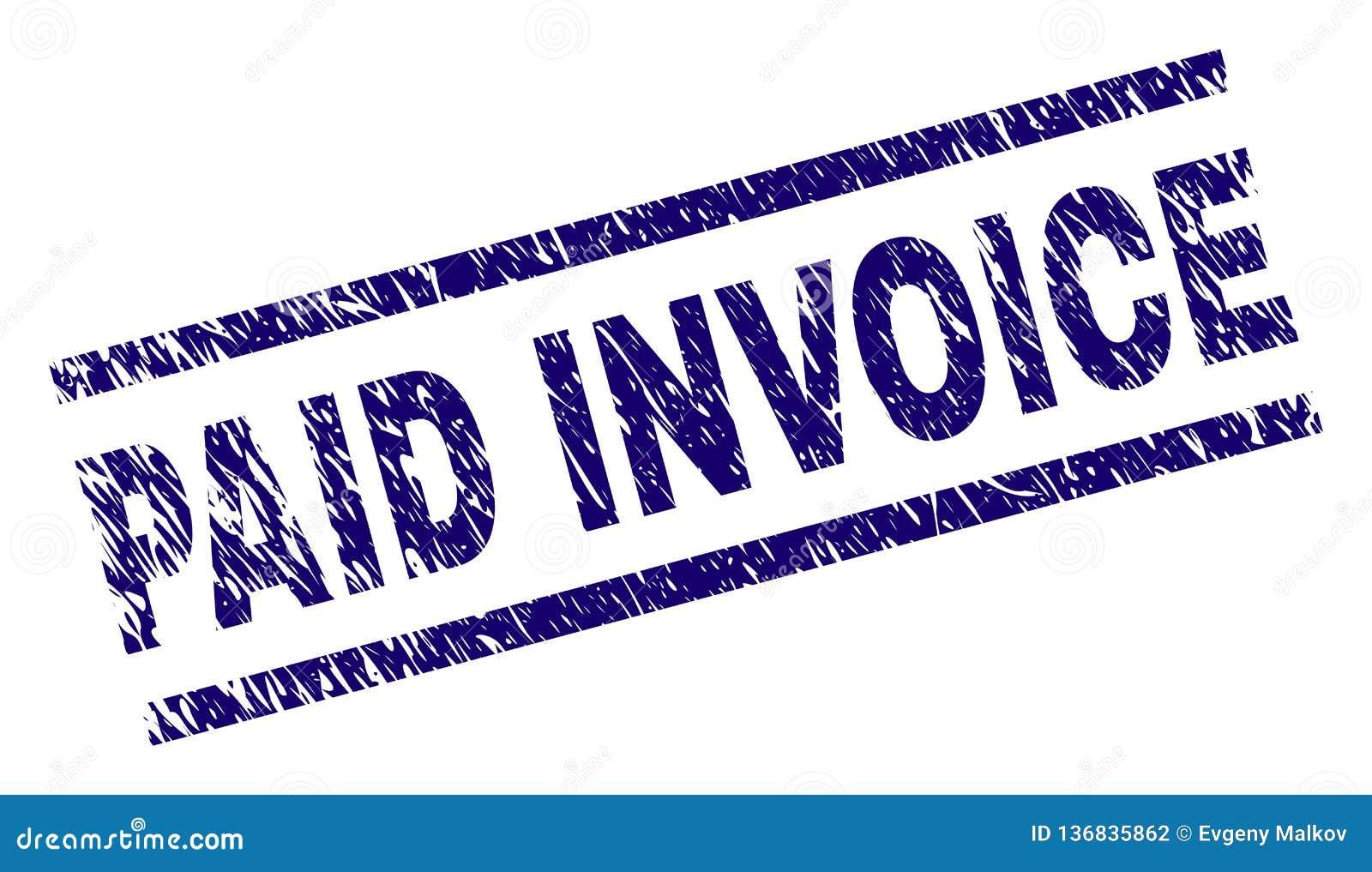 paid invoice stamp