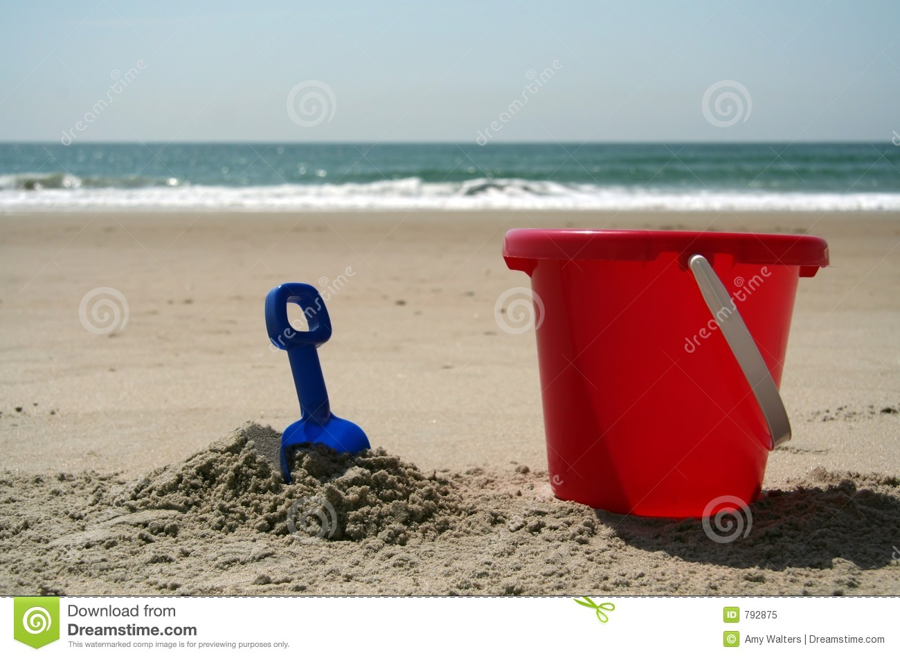 Pail and shovel at the beach